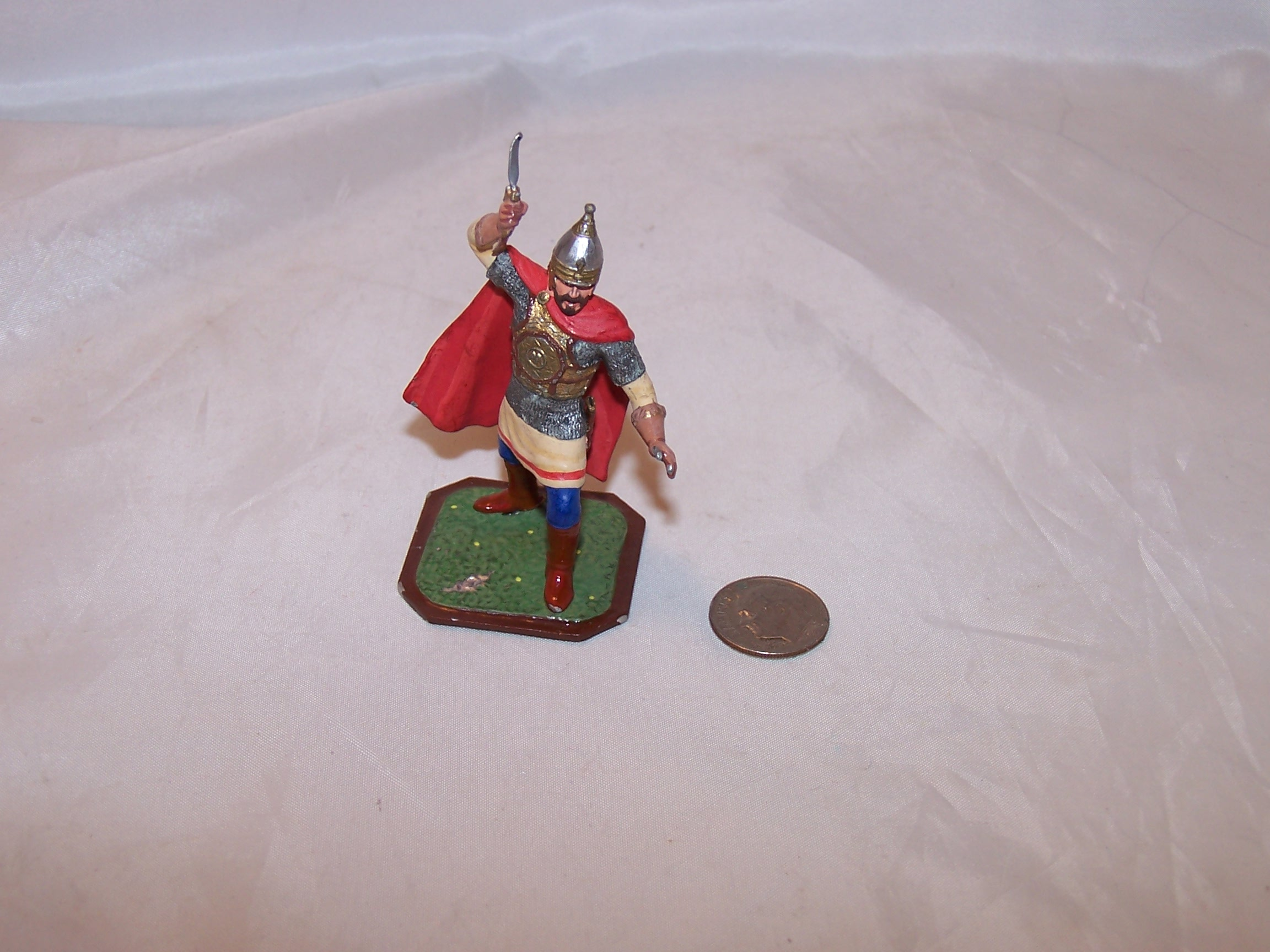 Image 5 of Roman Soldier, Painted Metal, Signed, Highly Detailed