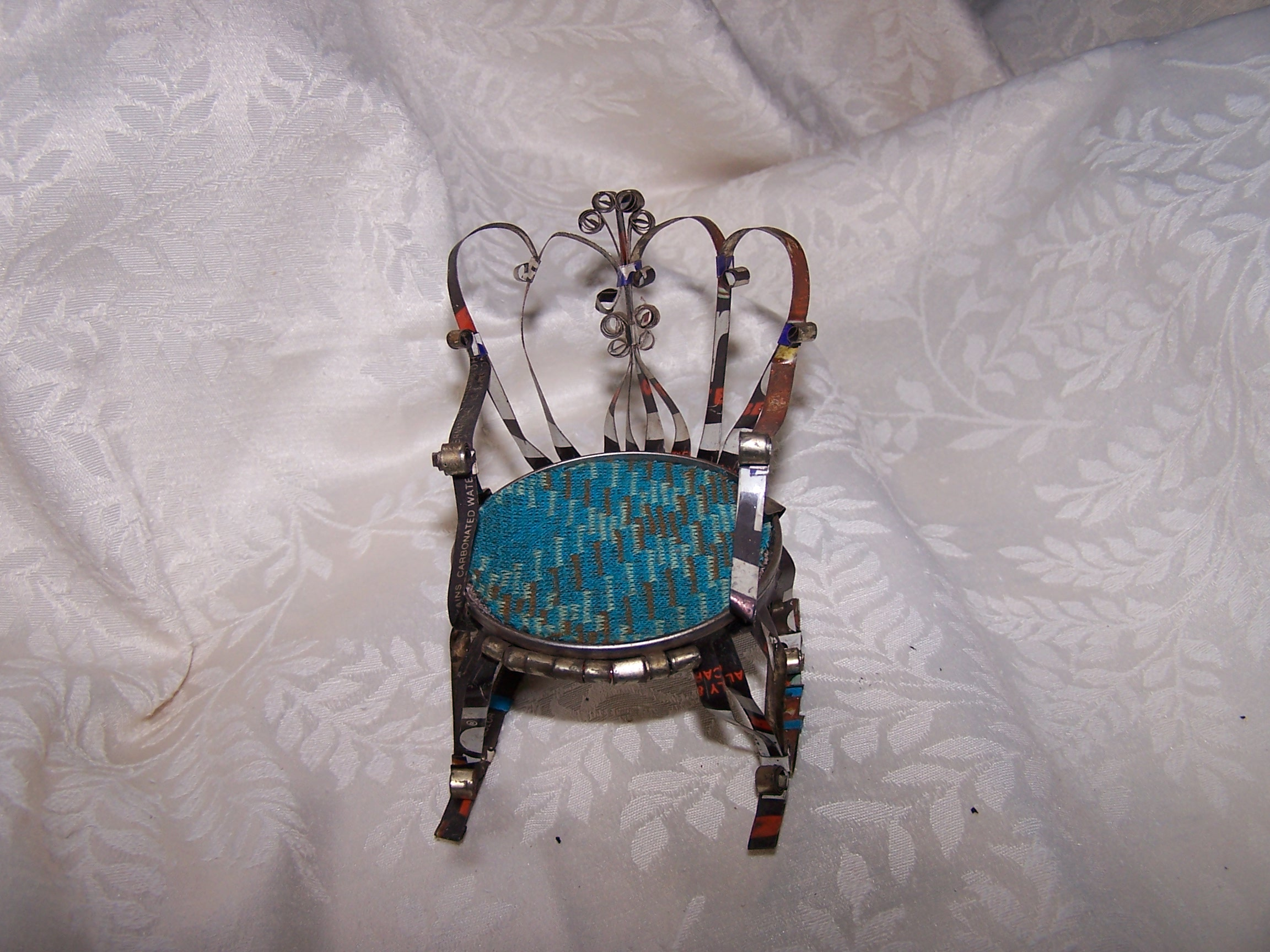 Quilled Rocking Chair, Unpainted, Vintage