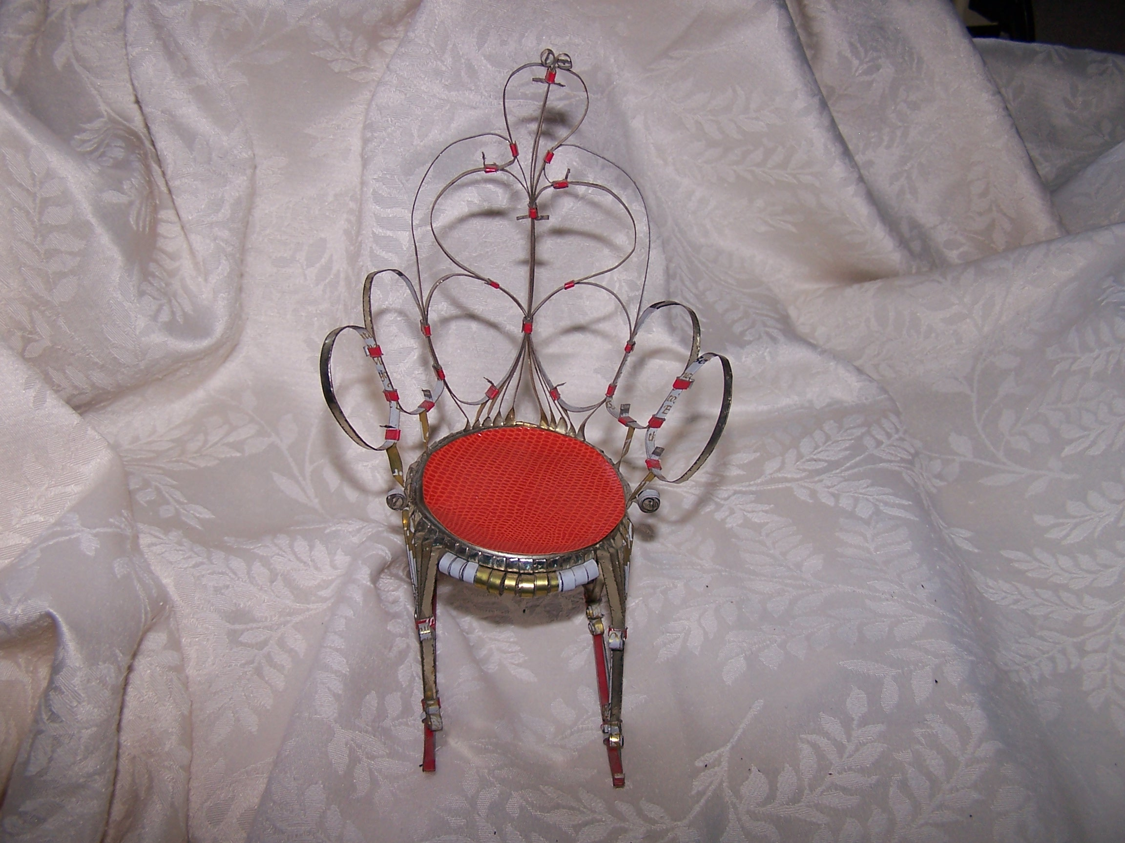 Quilled Rocking Chair, Tall, Unpainted, Vintage Folk Art