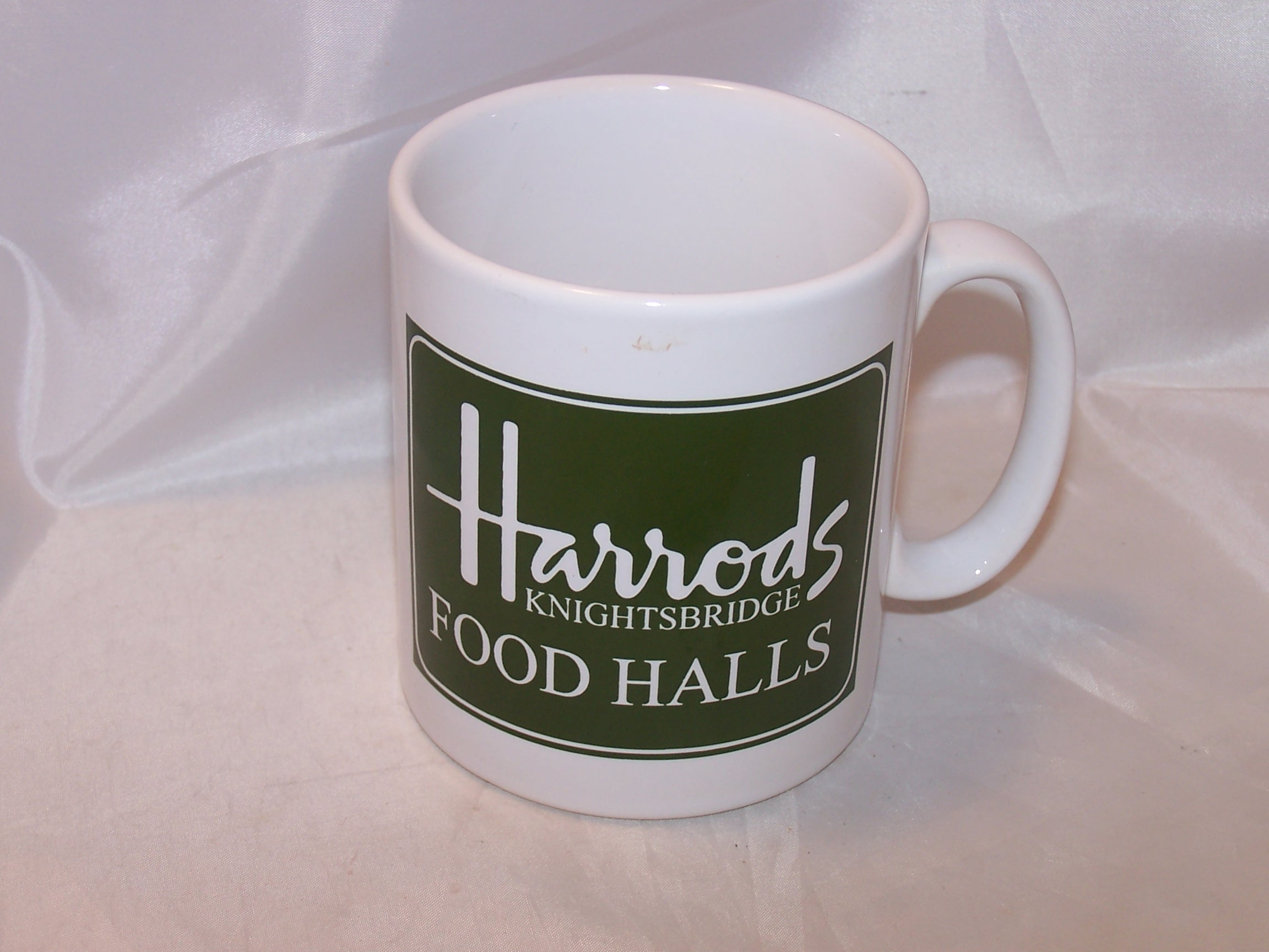 Harrods Food Hall Mug, Cup, Knightsbridge, Green, White