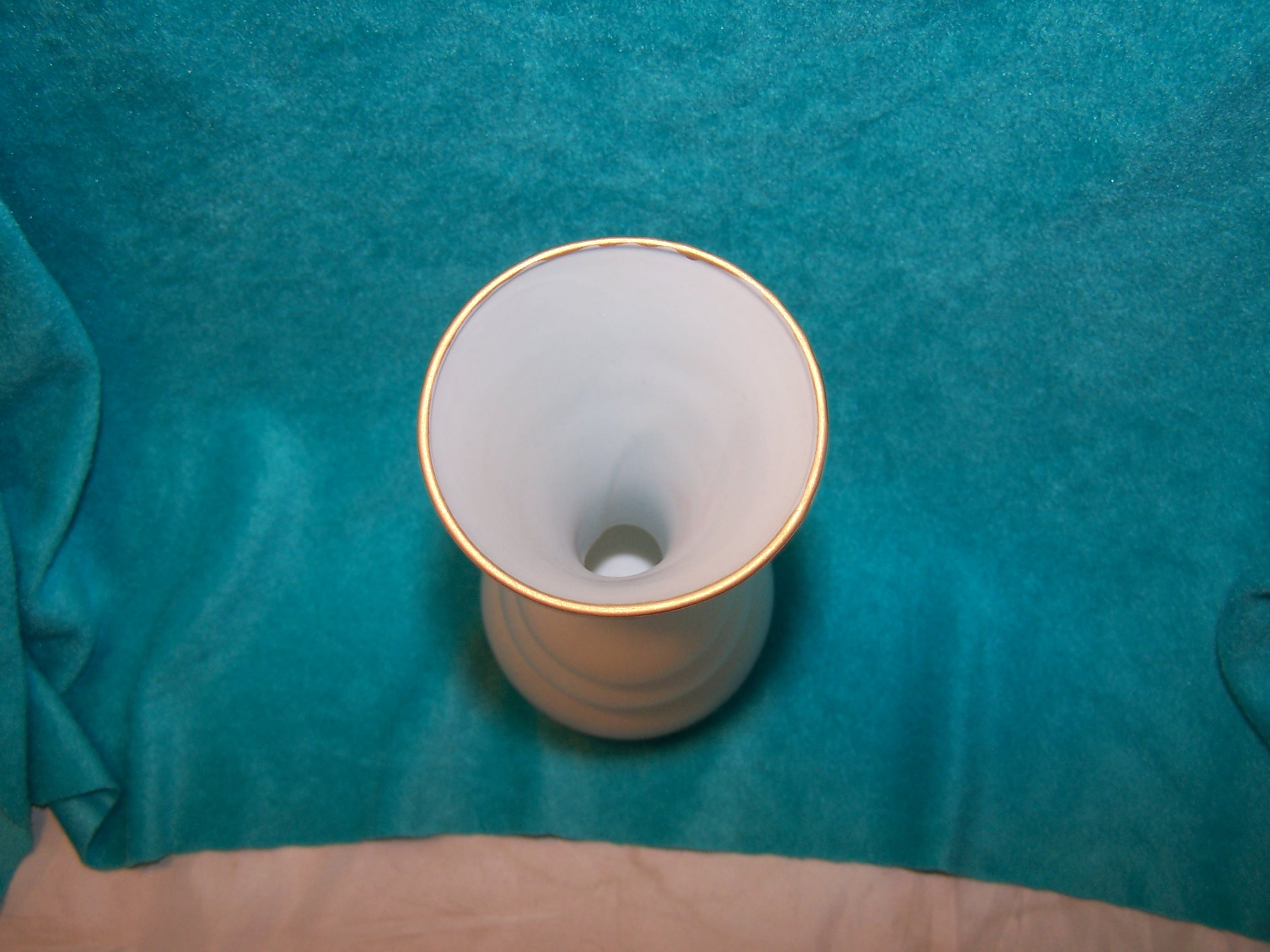 Image 4 of Milk Glass Butterfly Vase, Italian Satin Glass
