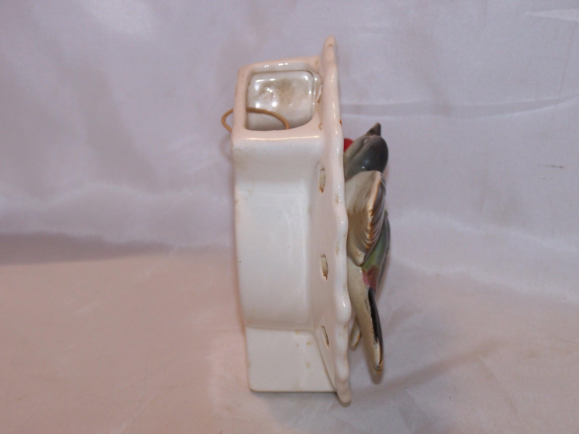 Image 3 of Lipper and Mann Wall Pocket Vase w Bird, Cherries