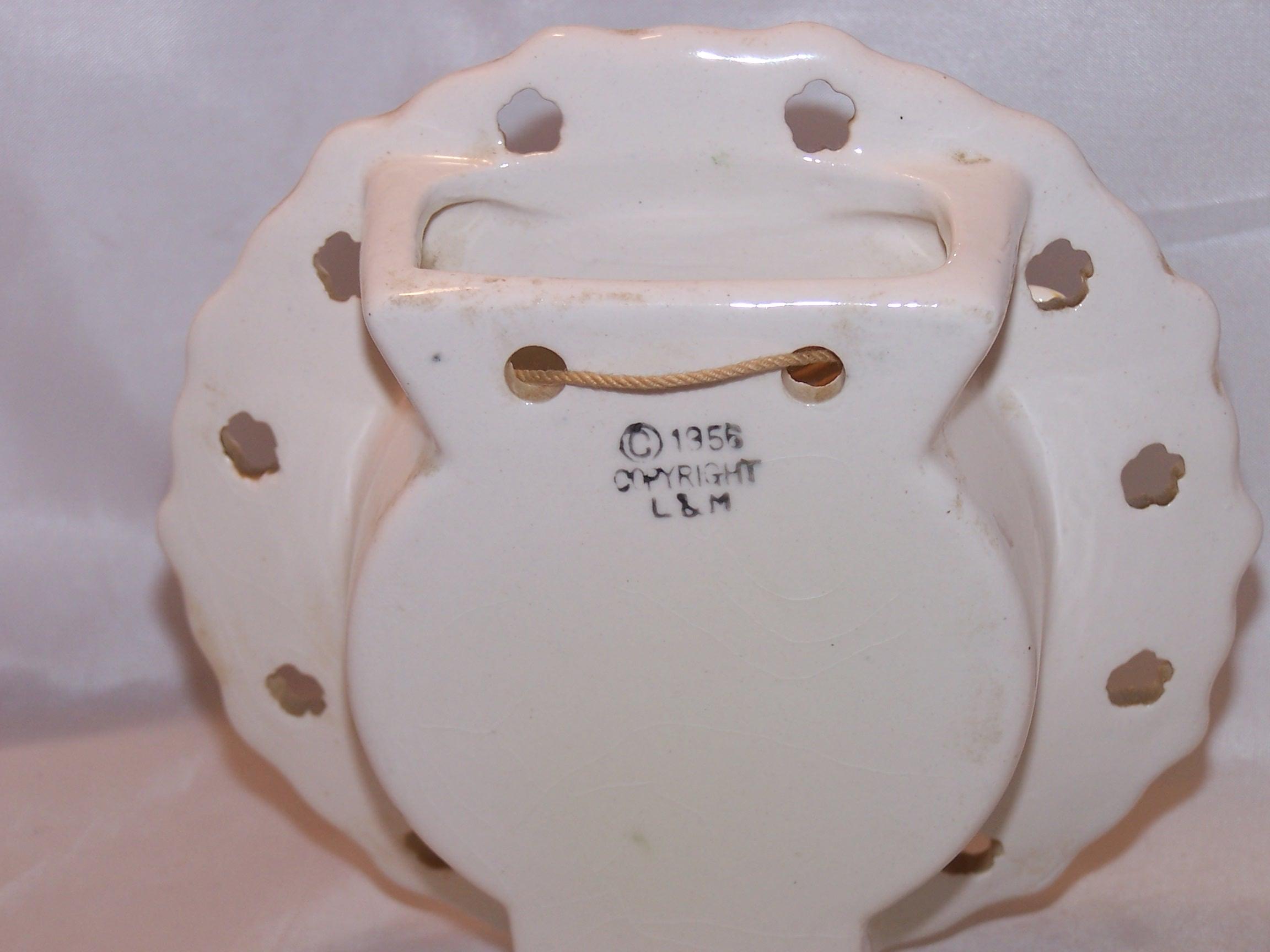 Image 5 of Lipper and Mann Wall Pocket Vase w Bird, Cherries