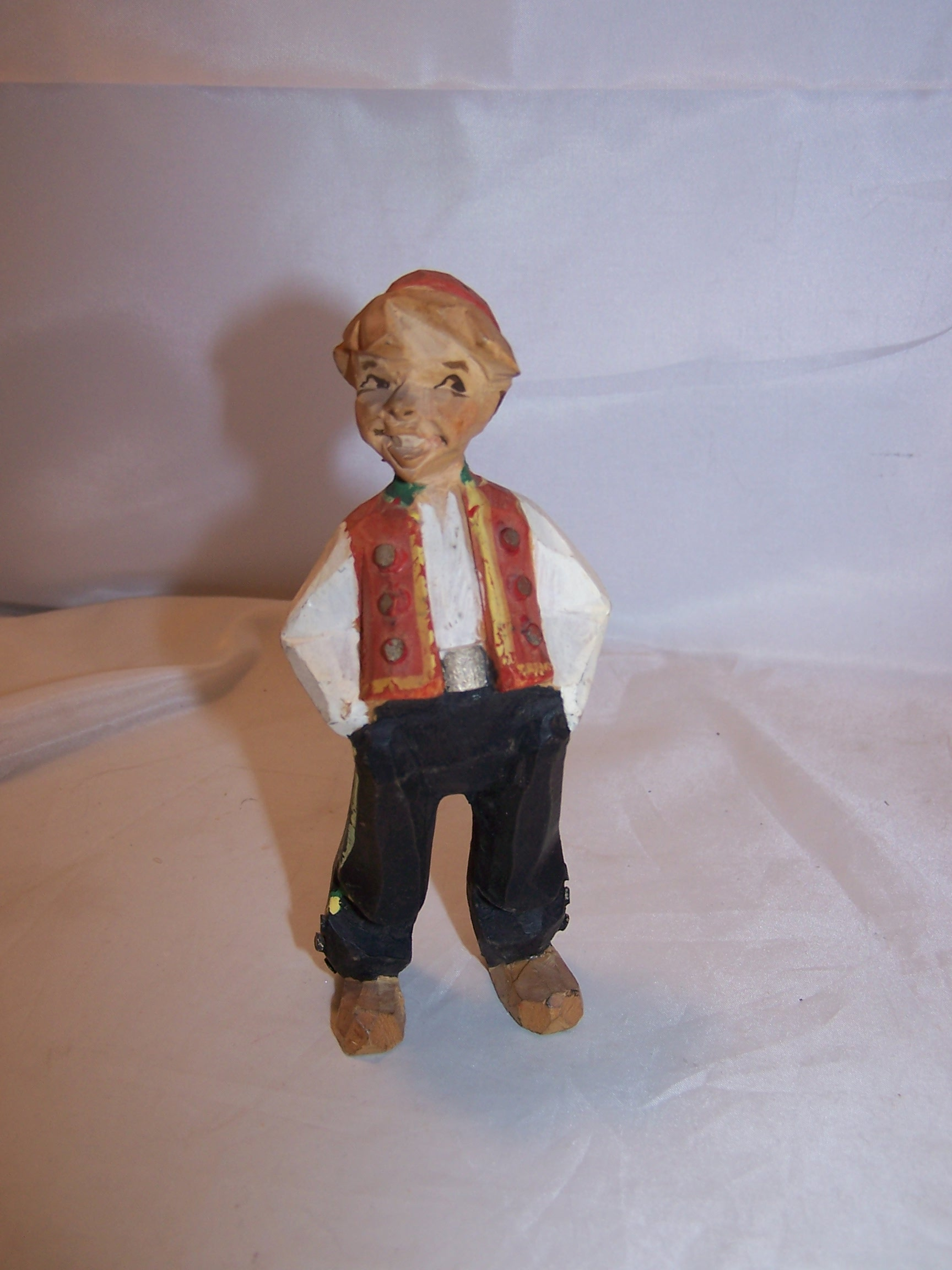 Laughing Boy Wood Carving, Hand Made, Vintage, Highly Detailed