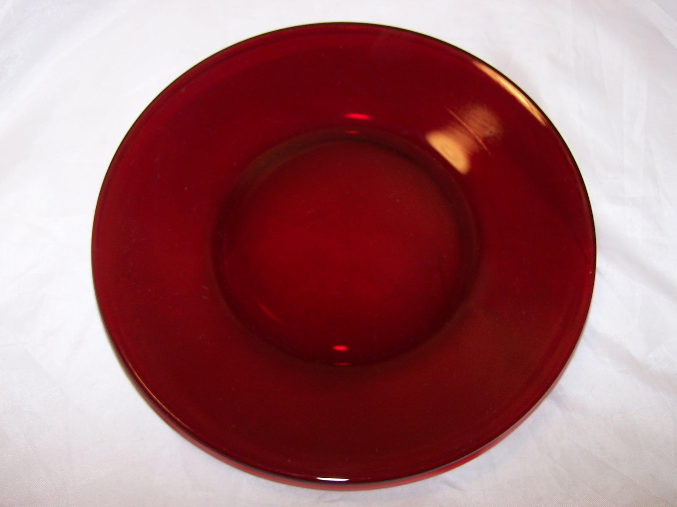 Ruby Red Depression Glass Plates Cups Sugar Bowl