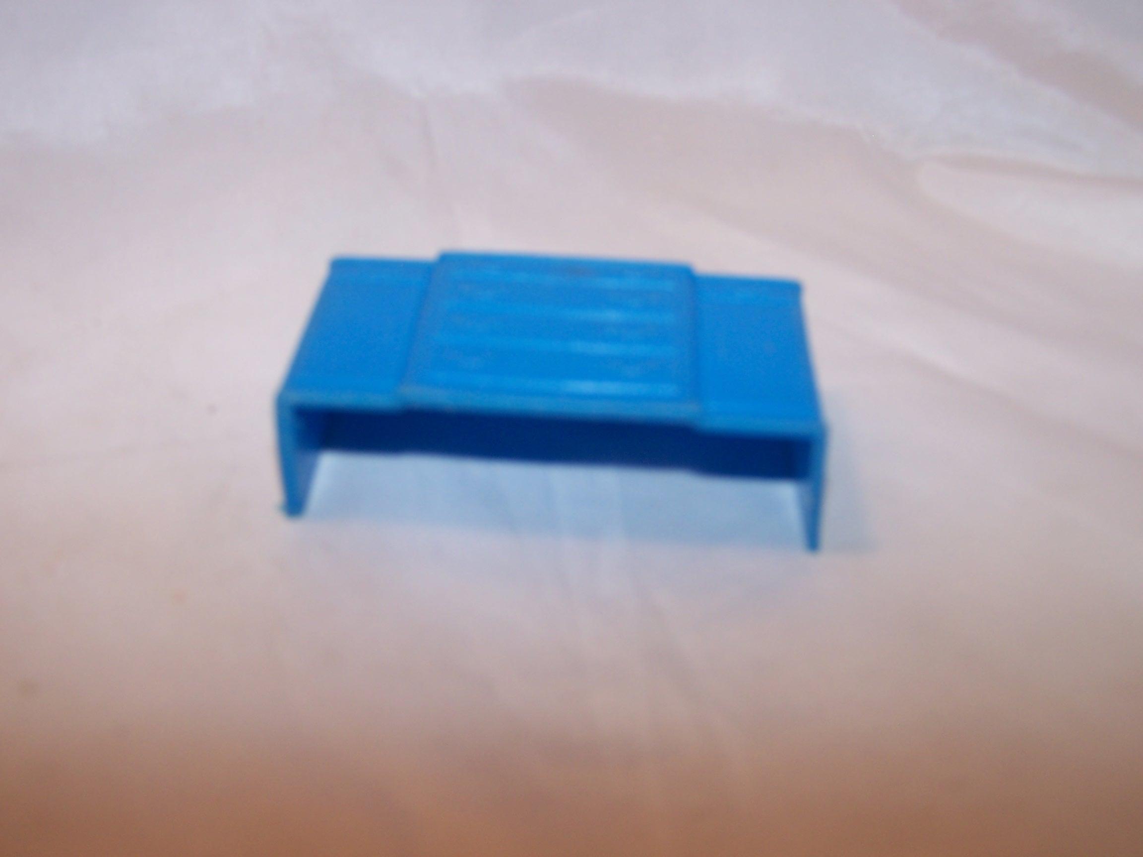 Image 4 of Dollhouse Blue Dresser, Plastic, Vintage