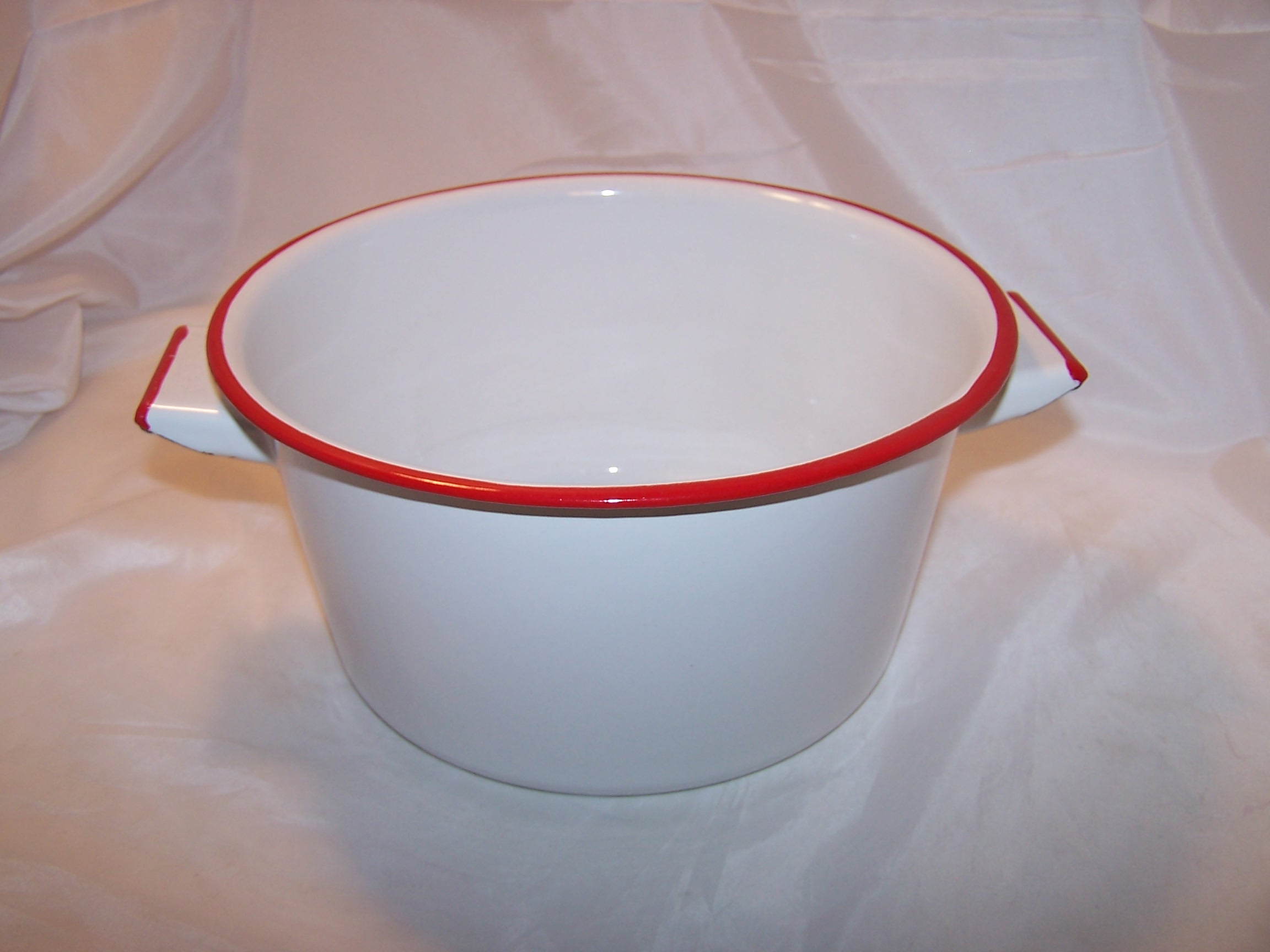 Enamelware Large Cup w Handle Vintage