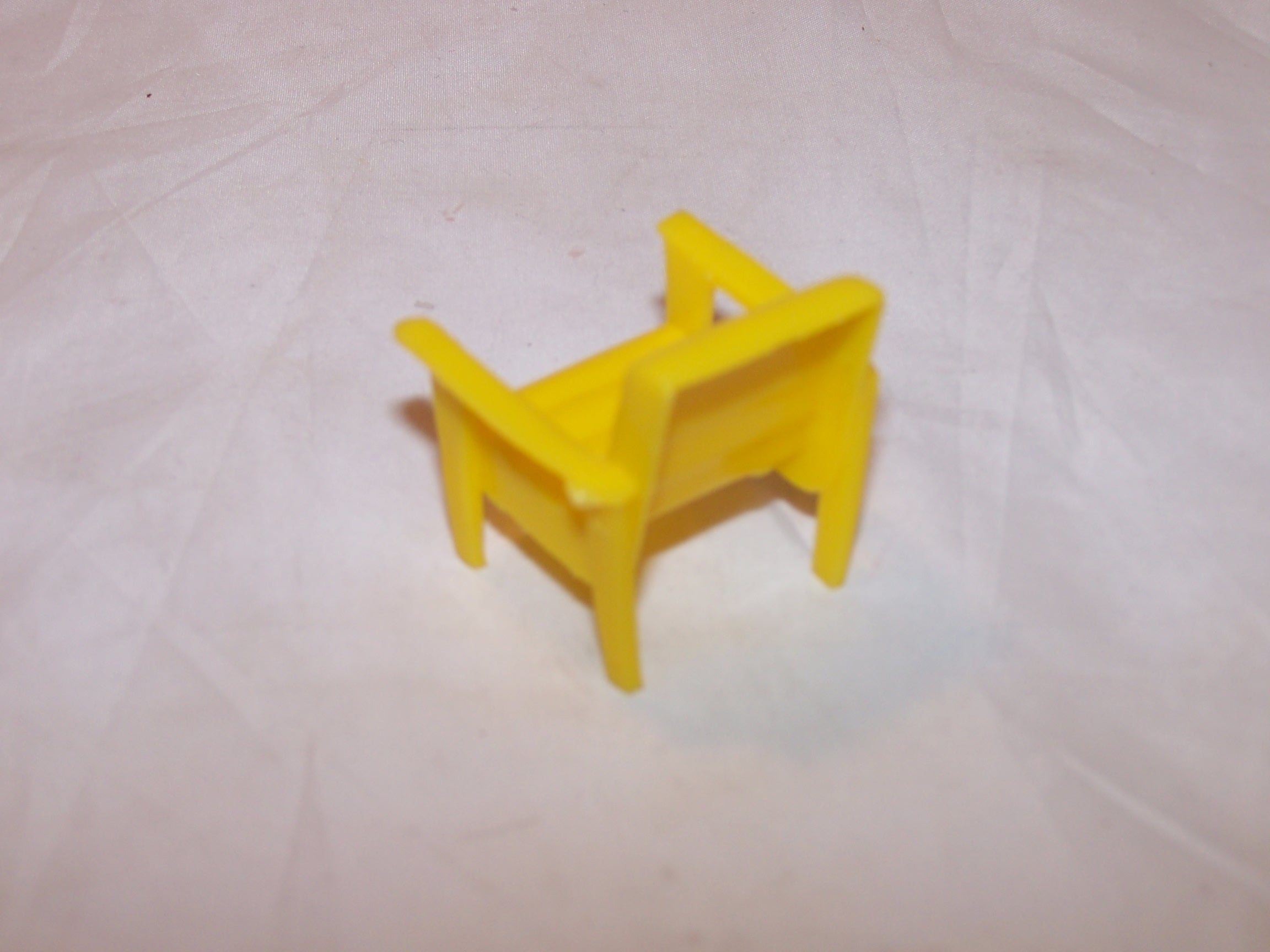 Image 1 of Dollhouse Yellow Chair, Plastic, Vintage