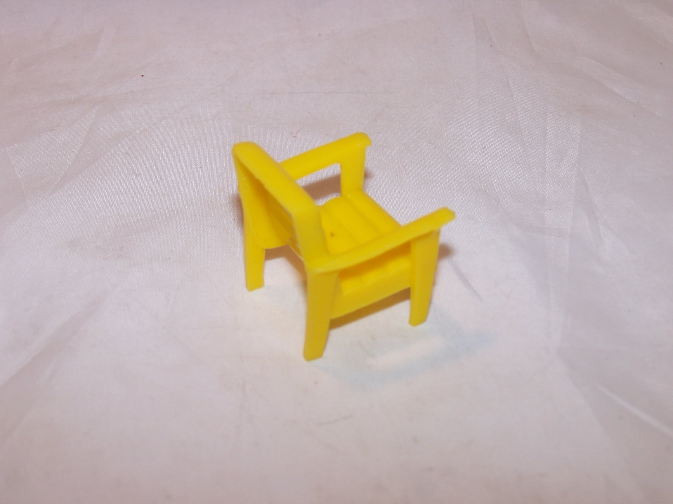 Image 2 of Dollhouse Yellow Chair, Plastic, Vintage