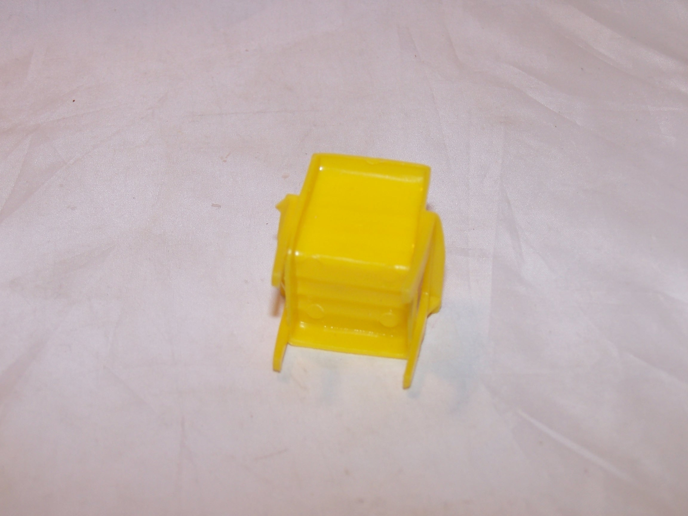 Image 3 of Dollhouse Yellow Chair, Plastic, Vintage