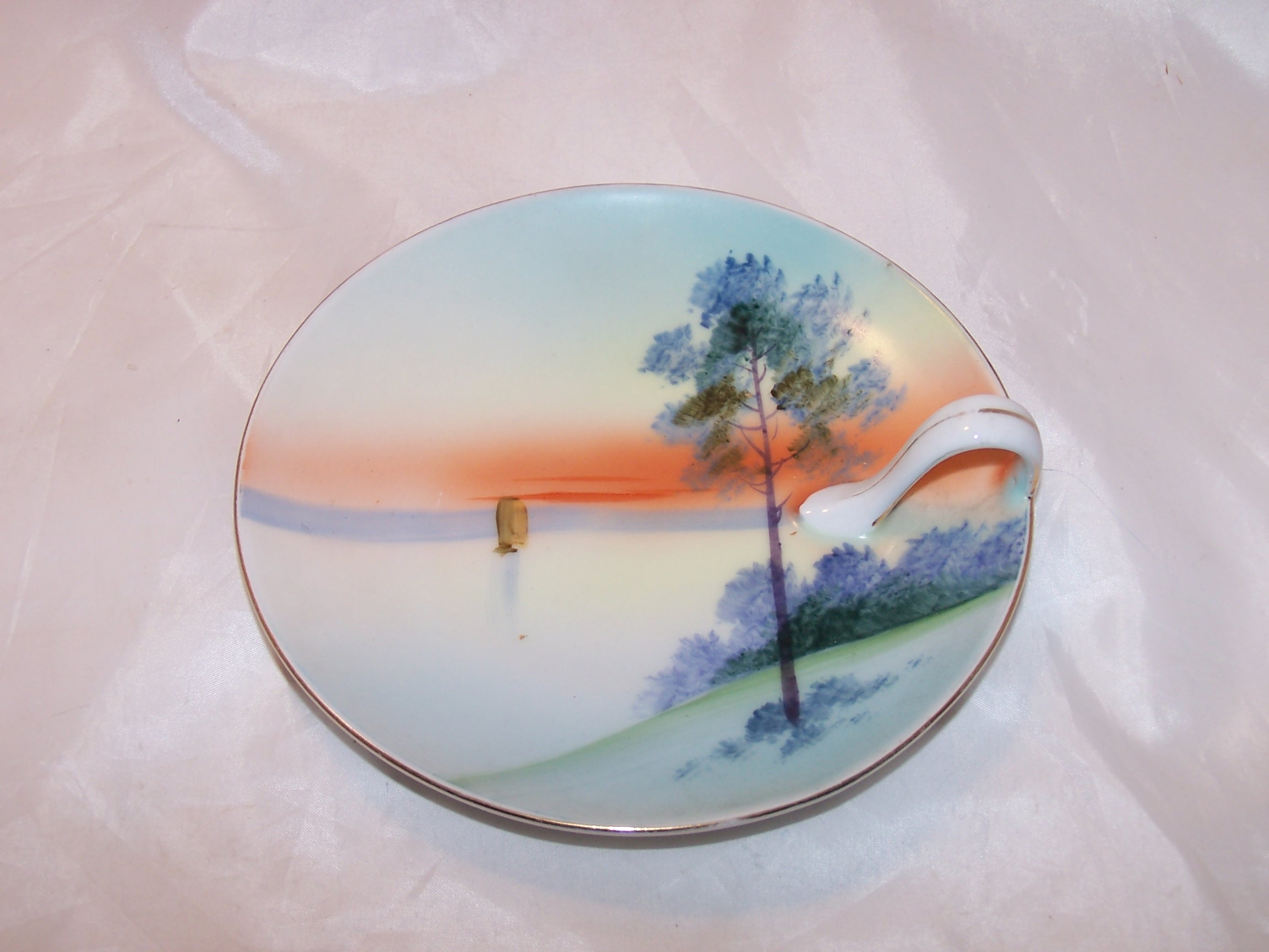 Meito China Lemon Server Plate, Hand Painted, Japan