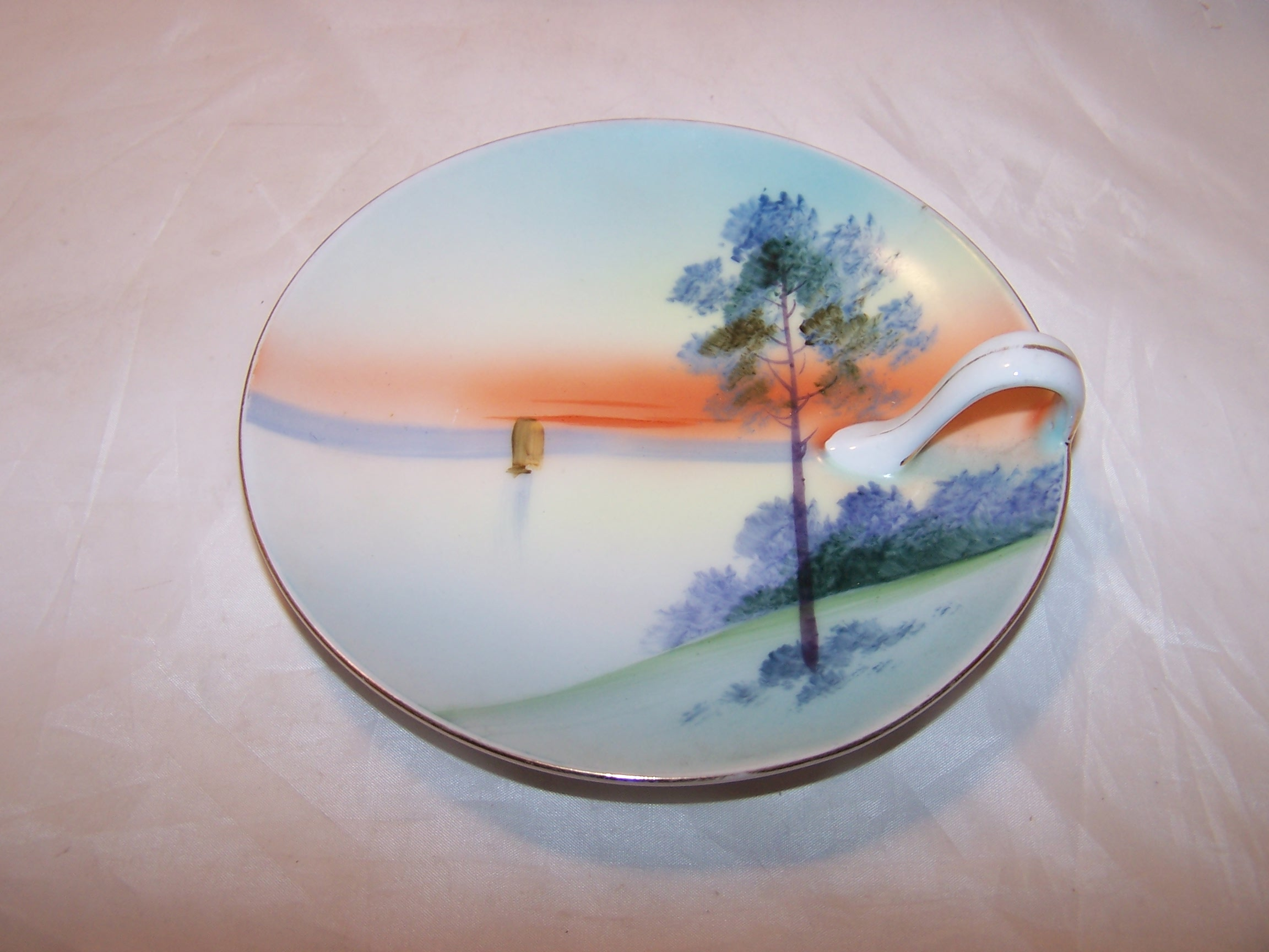 Image 3 of Meito China Lemon Server Plate, Hand Painted, Japan