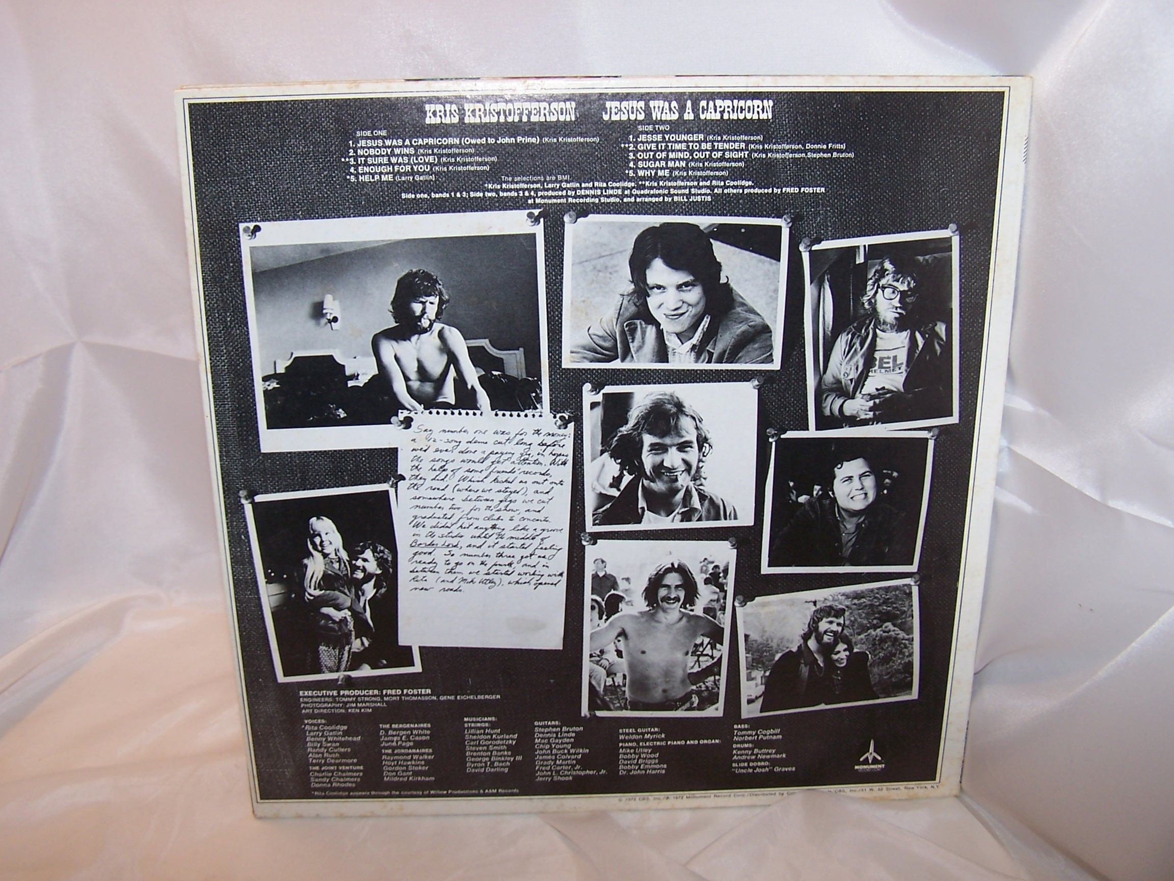 Image 2 of Jesus Was A Capricorn, Kris Kristofferson Record, Monument Columbia