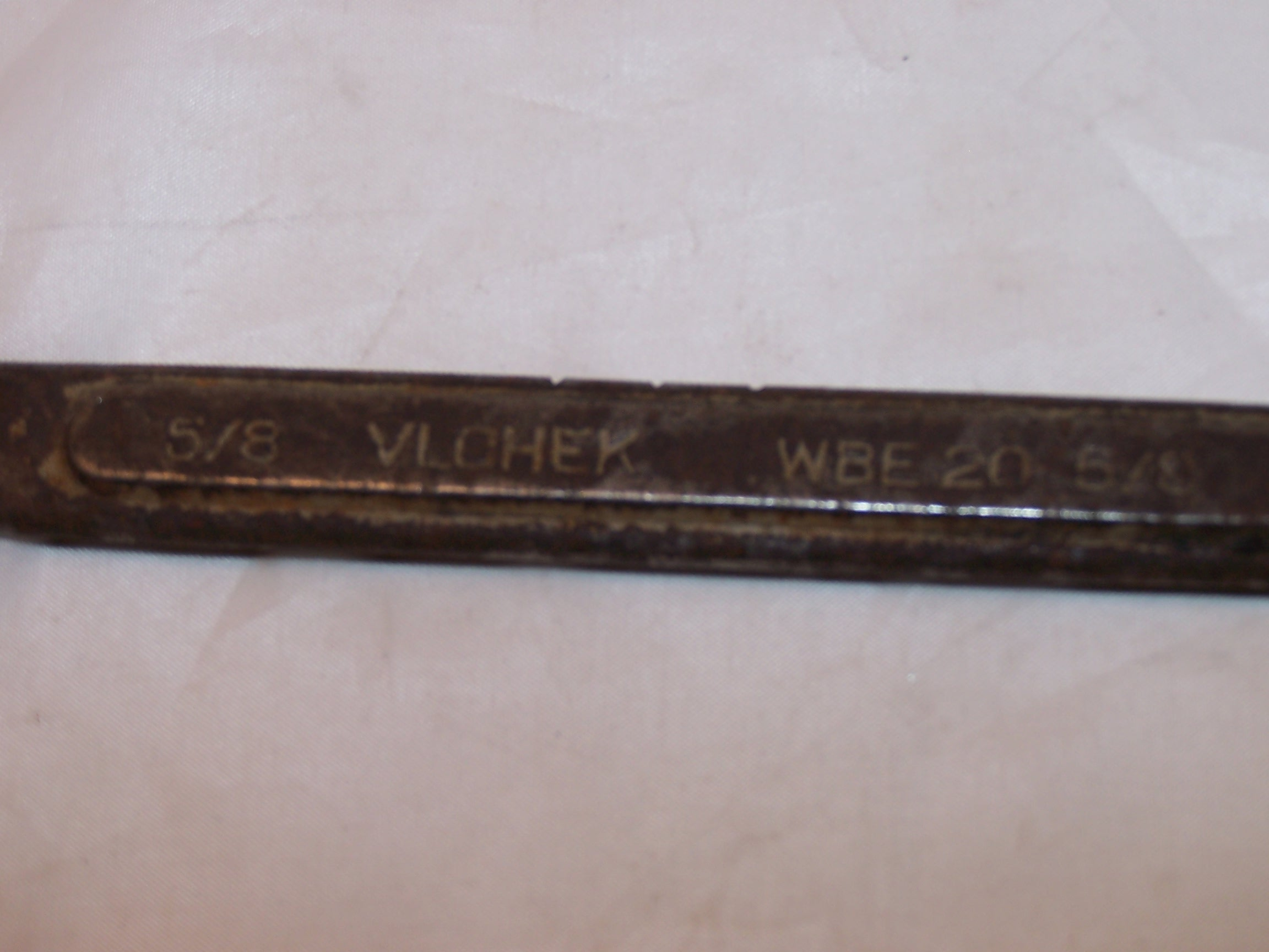 Image 1 of Vlchek Combination Wrench, WBE 20, Alloy Steel, Made in U.S.A., Vintage