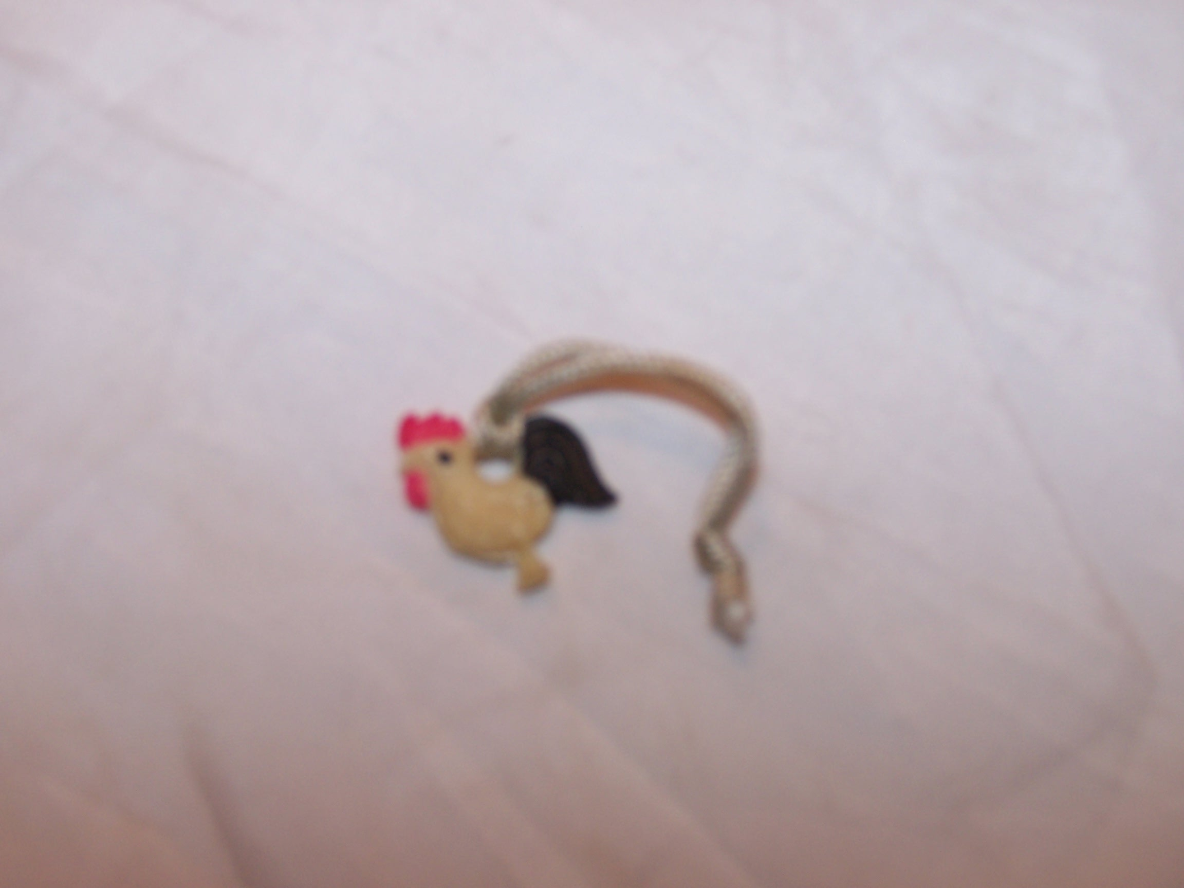 Image 1 of Chicken Gumball Prize, Plastic, Vintage
