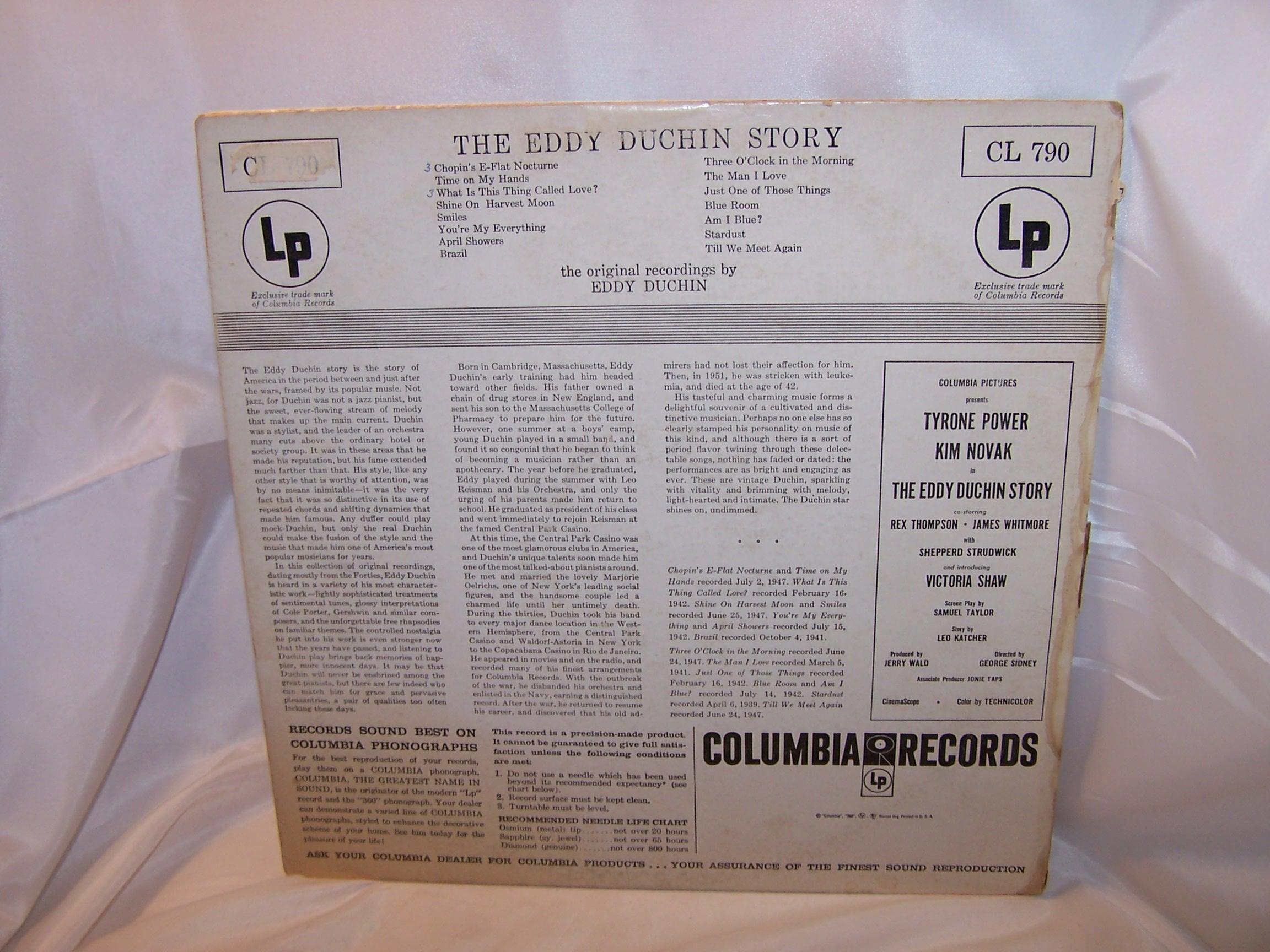 Image 1 of Eddy Duchin Story Record Album, Columbia, Tyrone Power