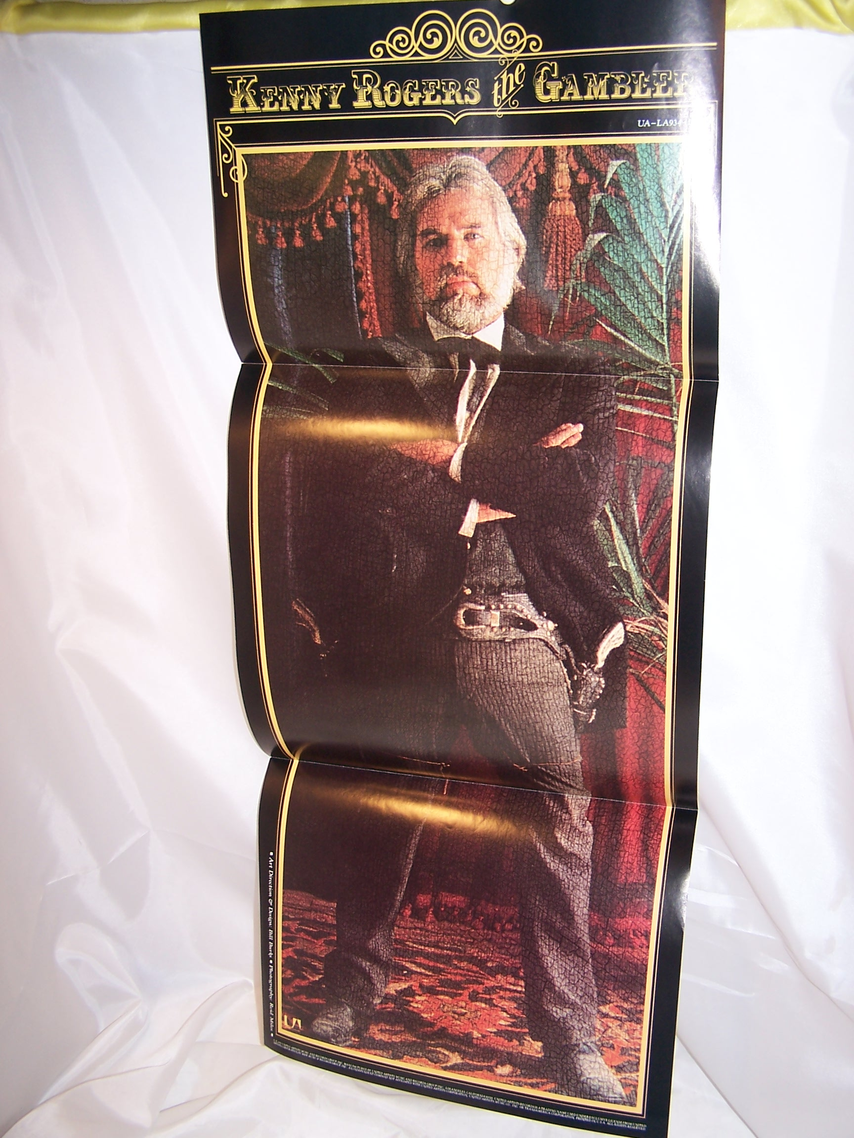 kenny rogers the gambler record album  poster  1978