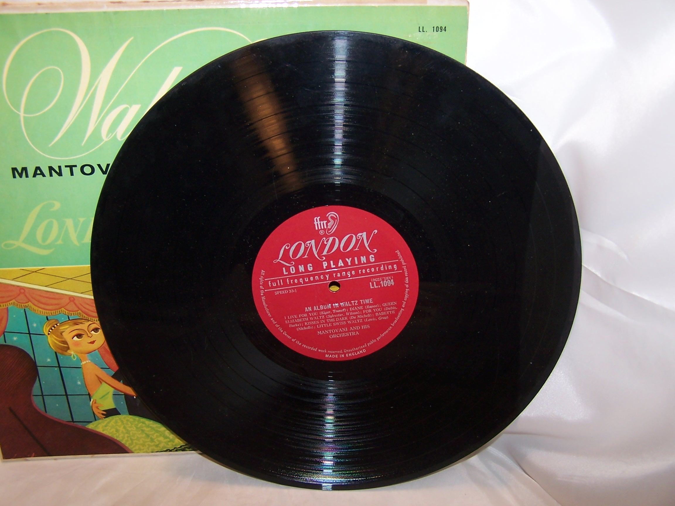 Image 2 of Mantovani and Orchestra, Waltz Time, England, Vintage