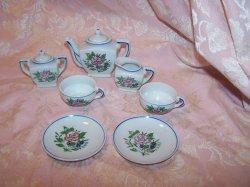 Miniature Tea Set, Made in Japan, Vintage, Set A