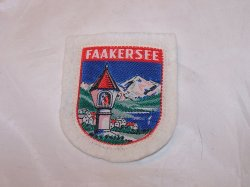 Faakersee, Lake Faak, Austria, Cloth Patch