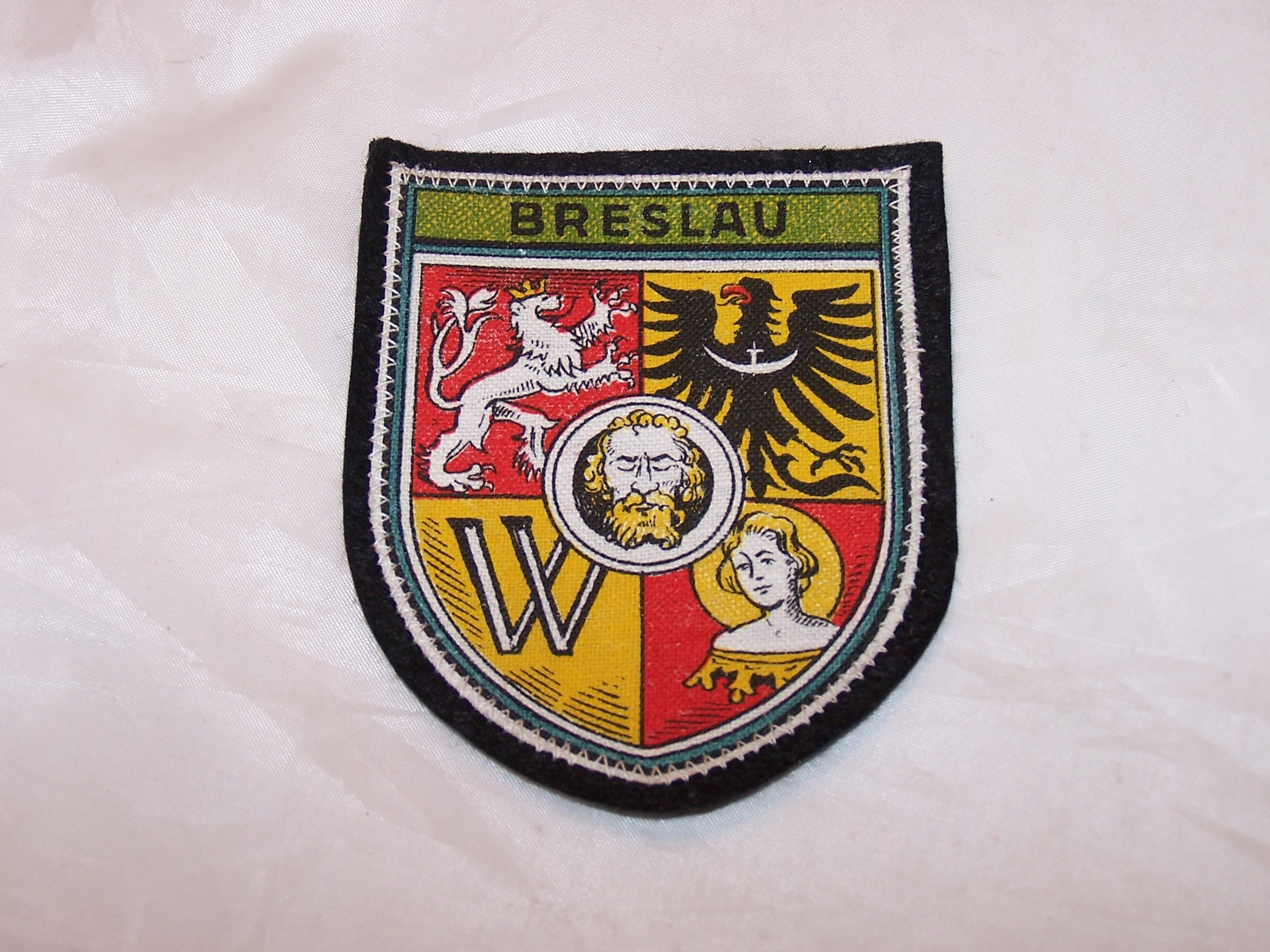 Breslau Cloth Patch with Crest, Wroclaw Poland