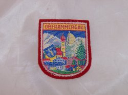 Oberammergau, Bavaria, Germany Cloth Patch, Vintage