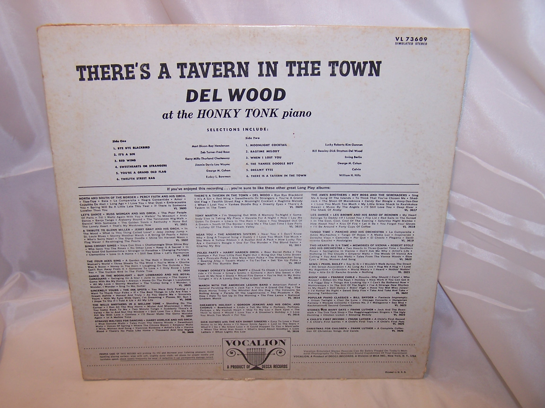 Image 1 of Theres a Tavern in the Town, Record Cover for Framing