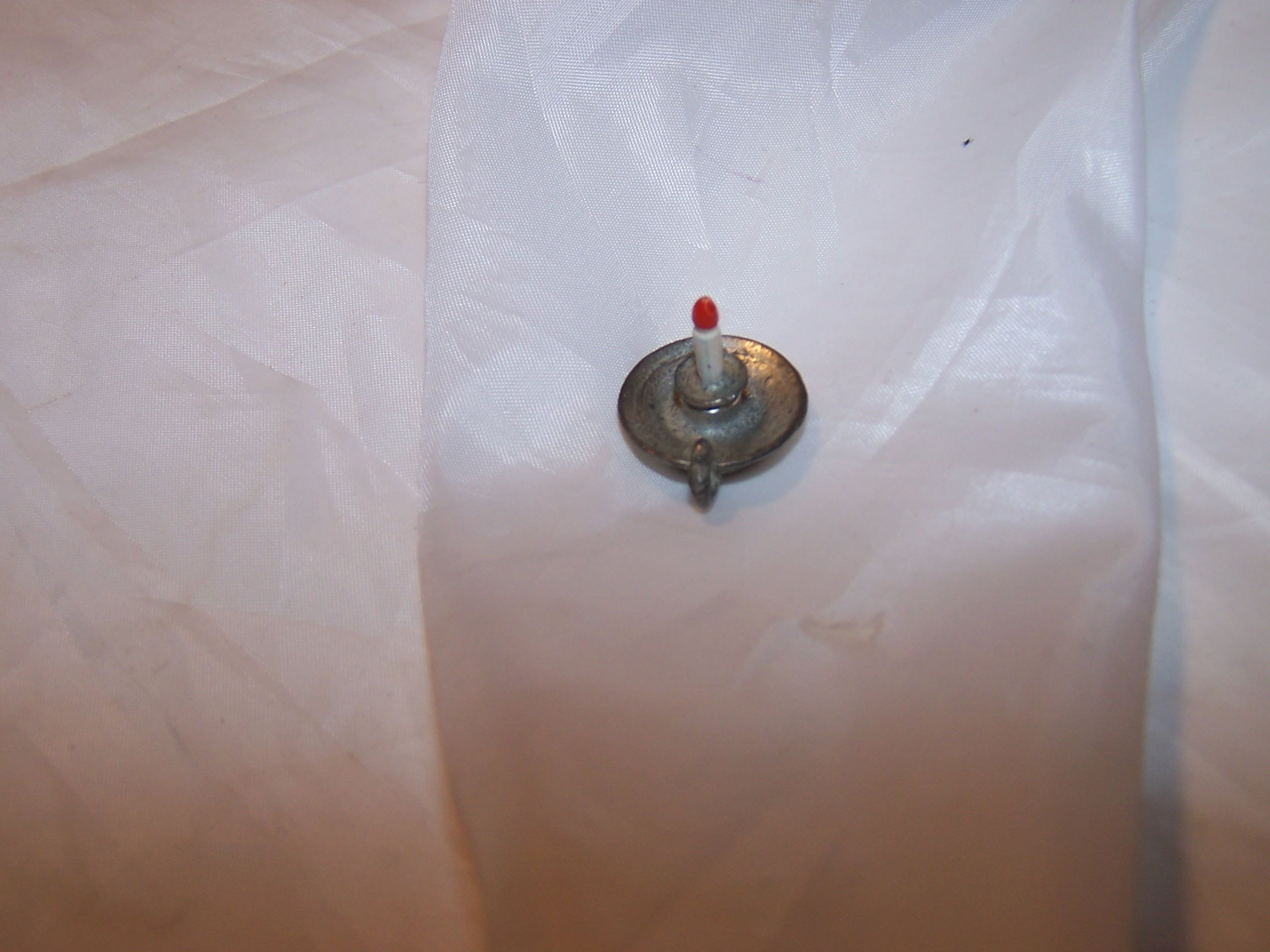 Image 3 of Dollhouse Candlestick, Miniature, Pewter