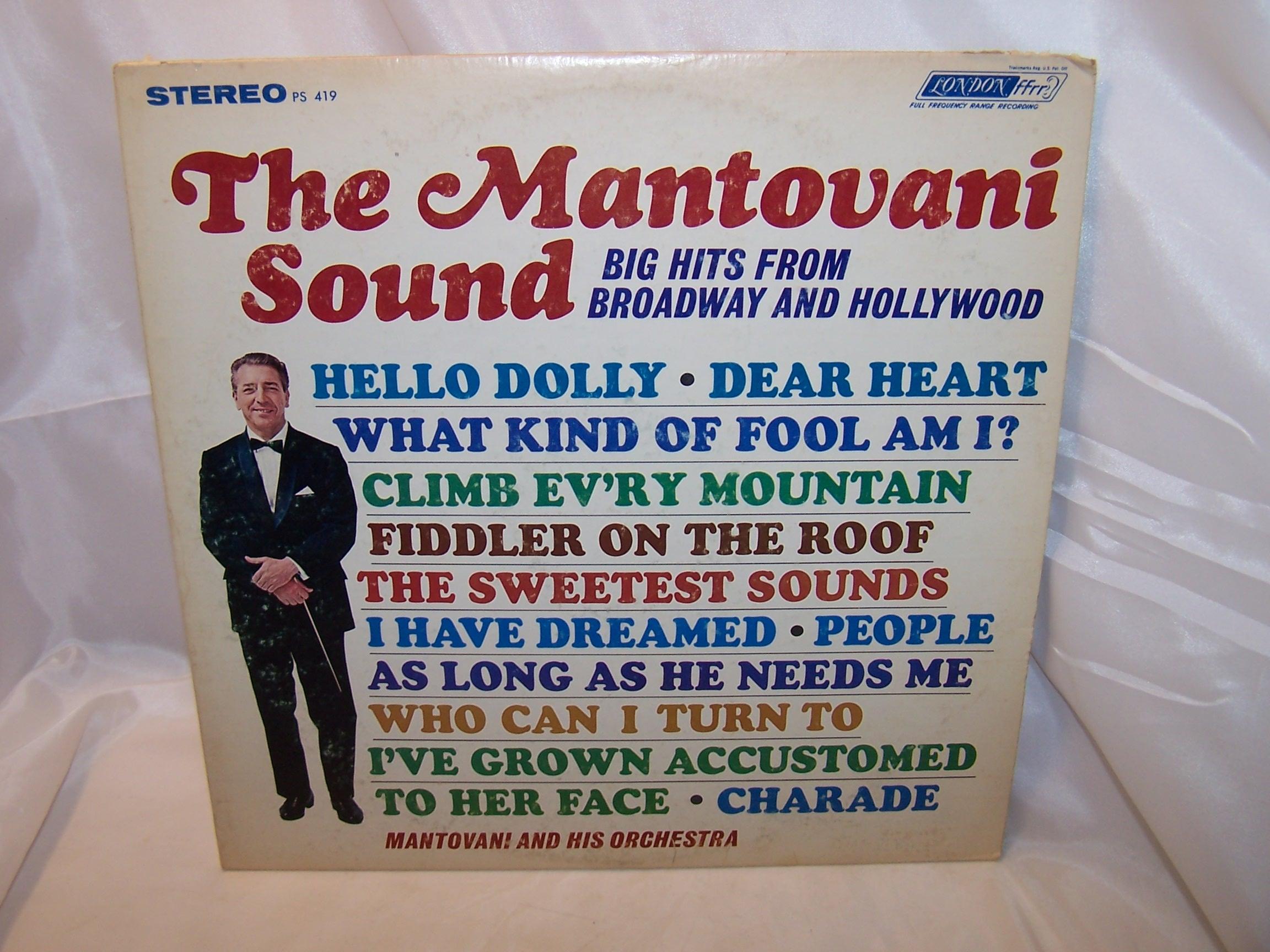 Mantovani Sound, Broadway Hollywood Hits, Record, LP