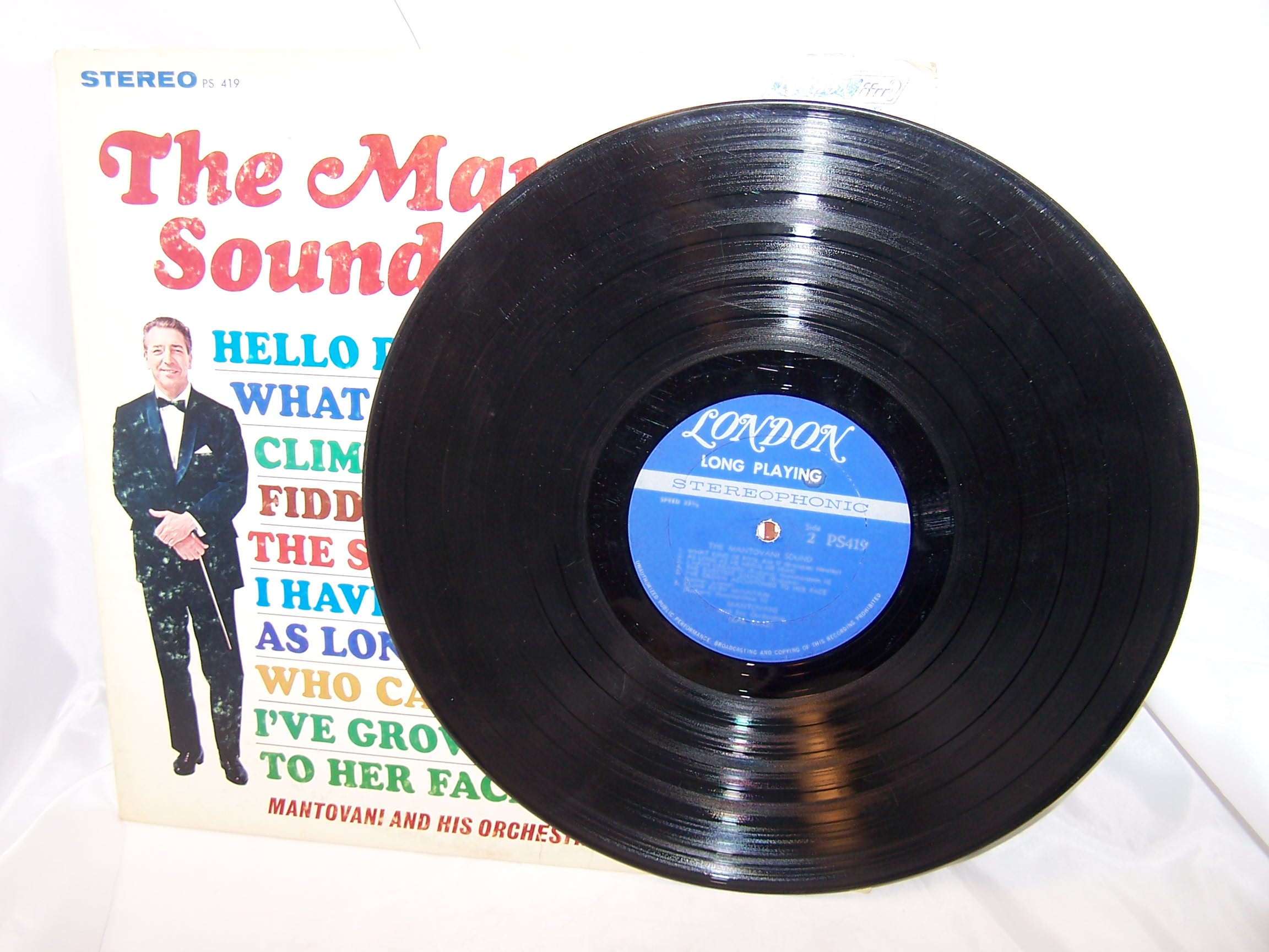 Image 2 of Mantovani Sound, Broadway Hollywood Hits, Record, LP