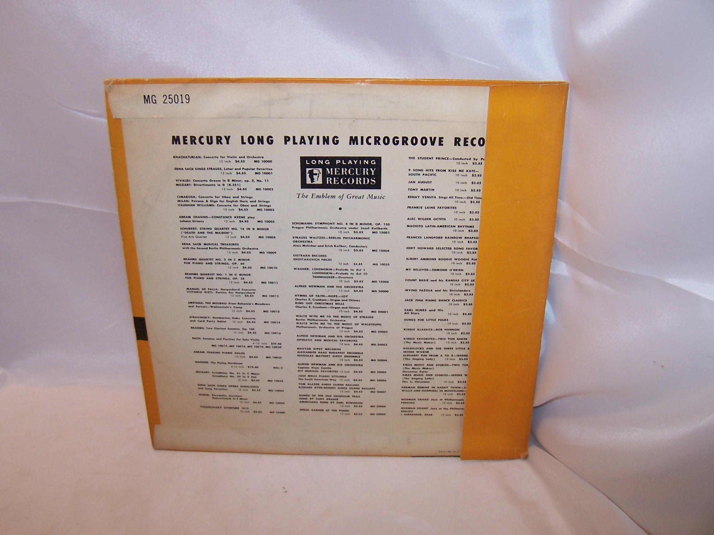 Image 3 of Jan August, More Favorites, LP Record, Mercury Records