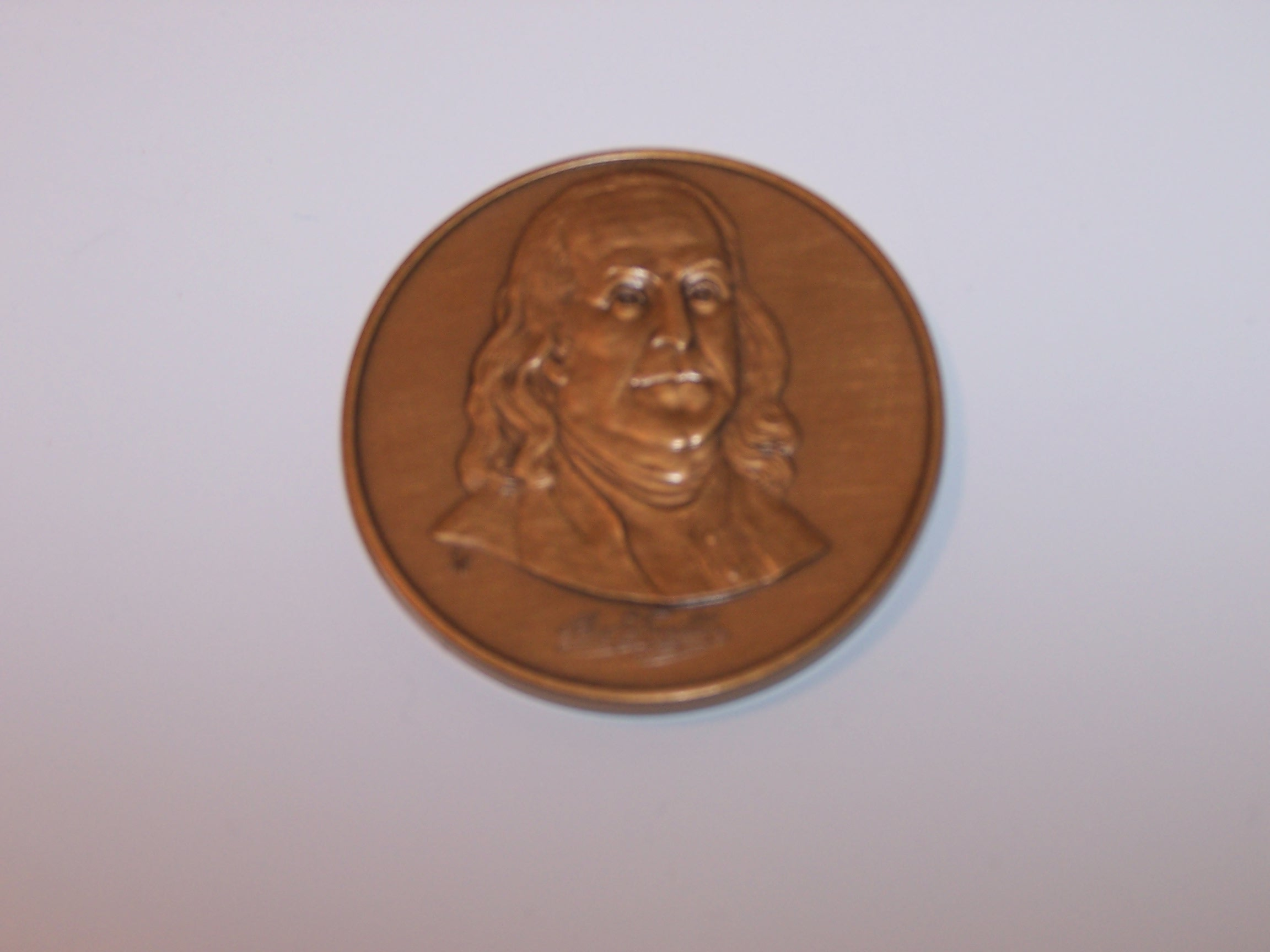 Ben Franklin Bronze Token, Coin, Franklin Mint, 1980