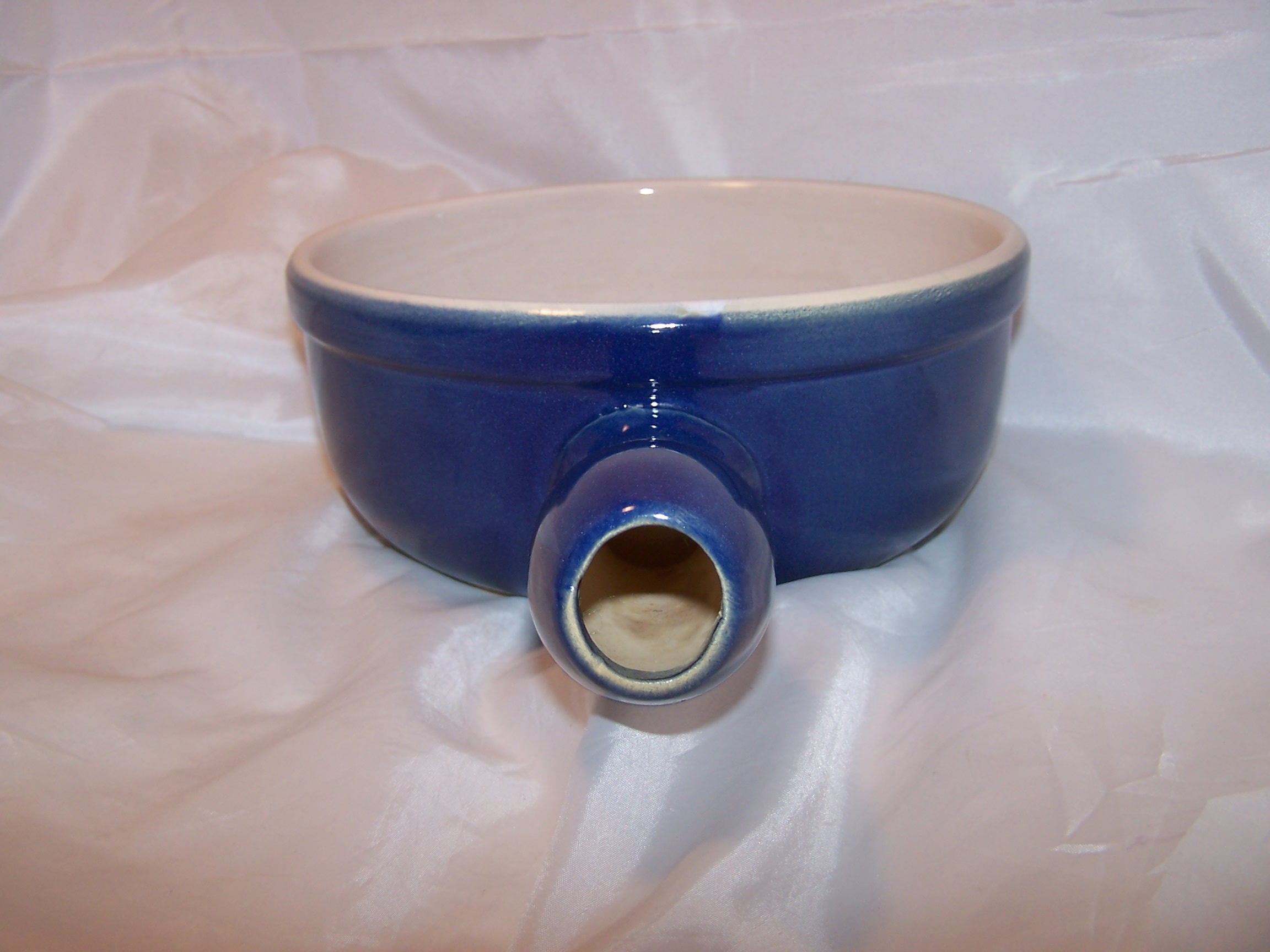 Image 1 of Cooking Pot, Cobalt Blue Microwave Stoneware, CCF, France
