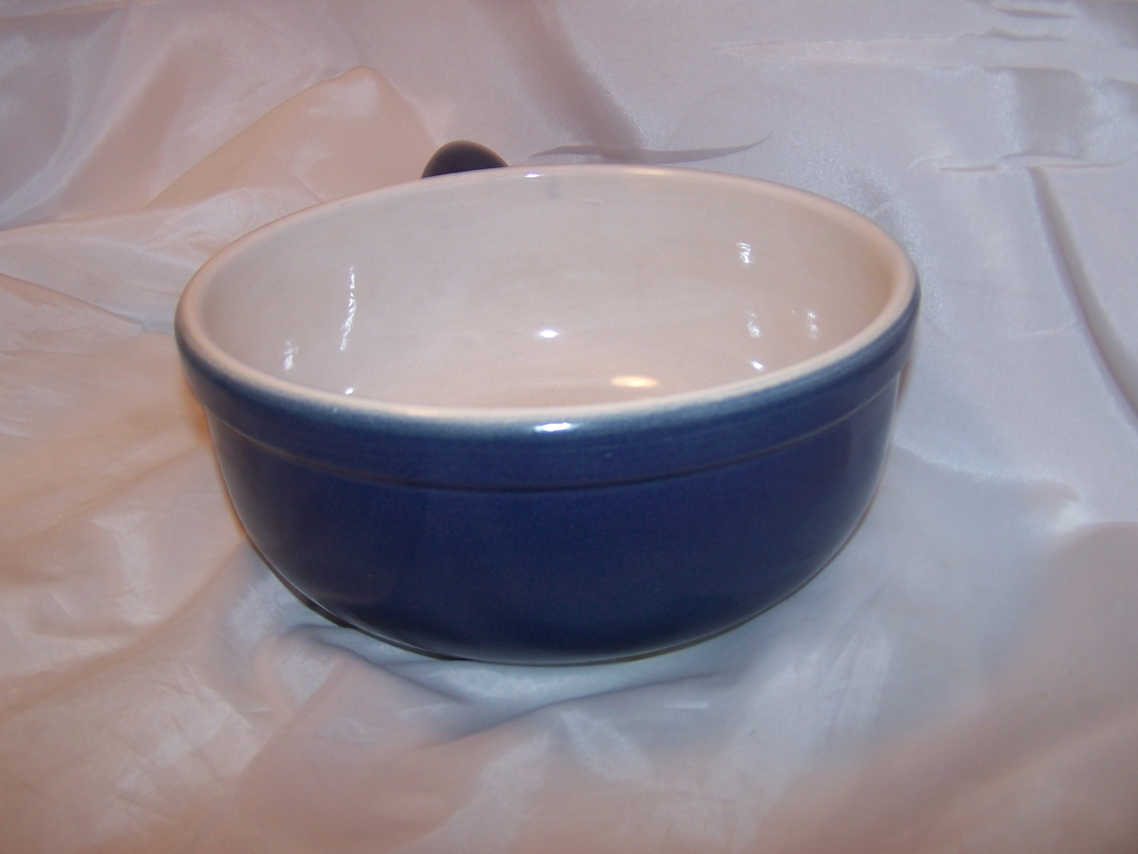 Image 3 of Cooking Pot, Cobalt Blue Microwave Stoneware, CCF, France