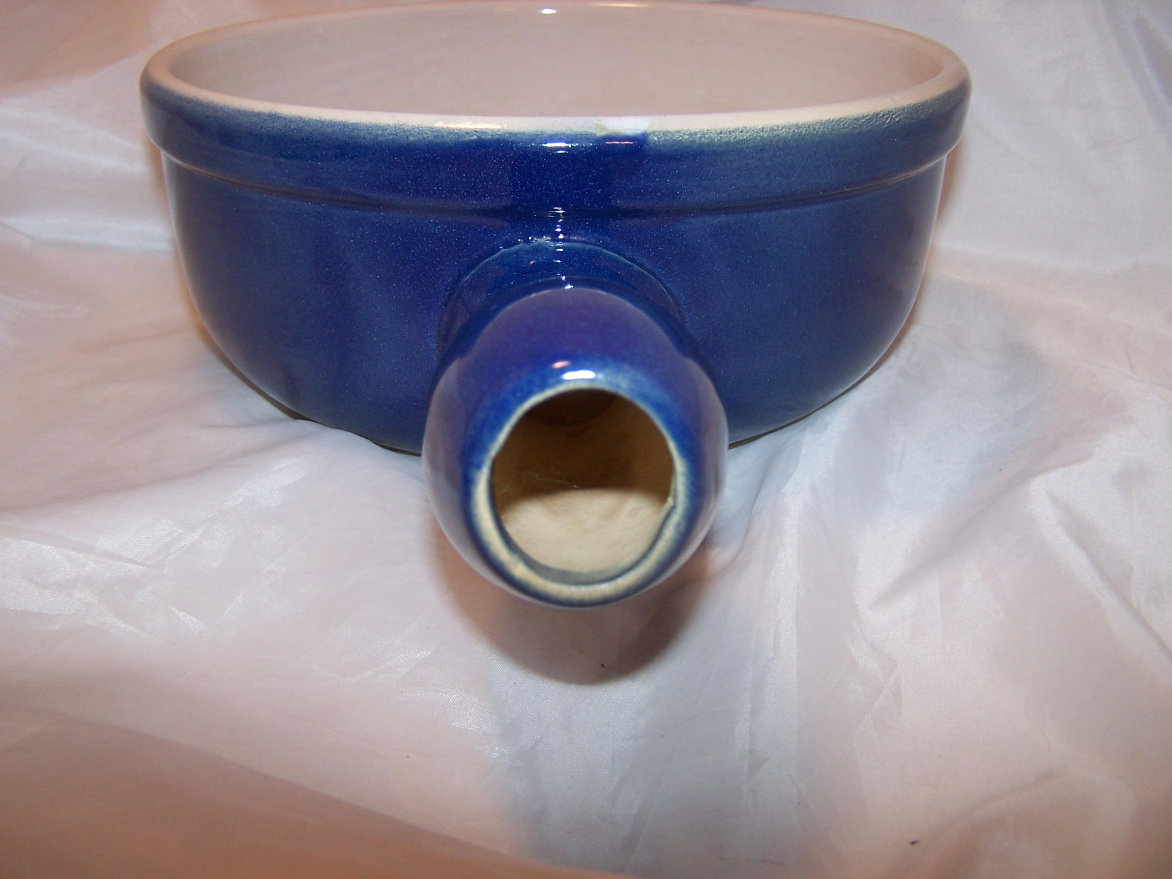 Image 4 of Cooking Pot, Cobalt Blue Microwave Stoneware, CCF, France