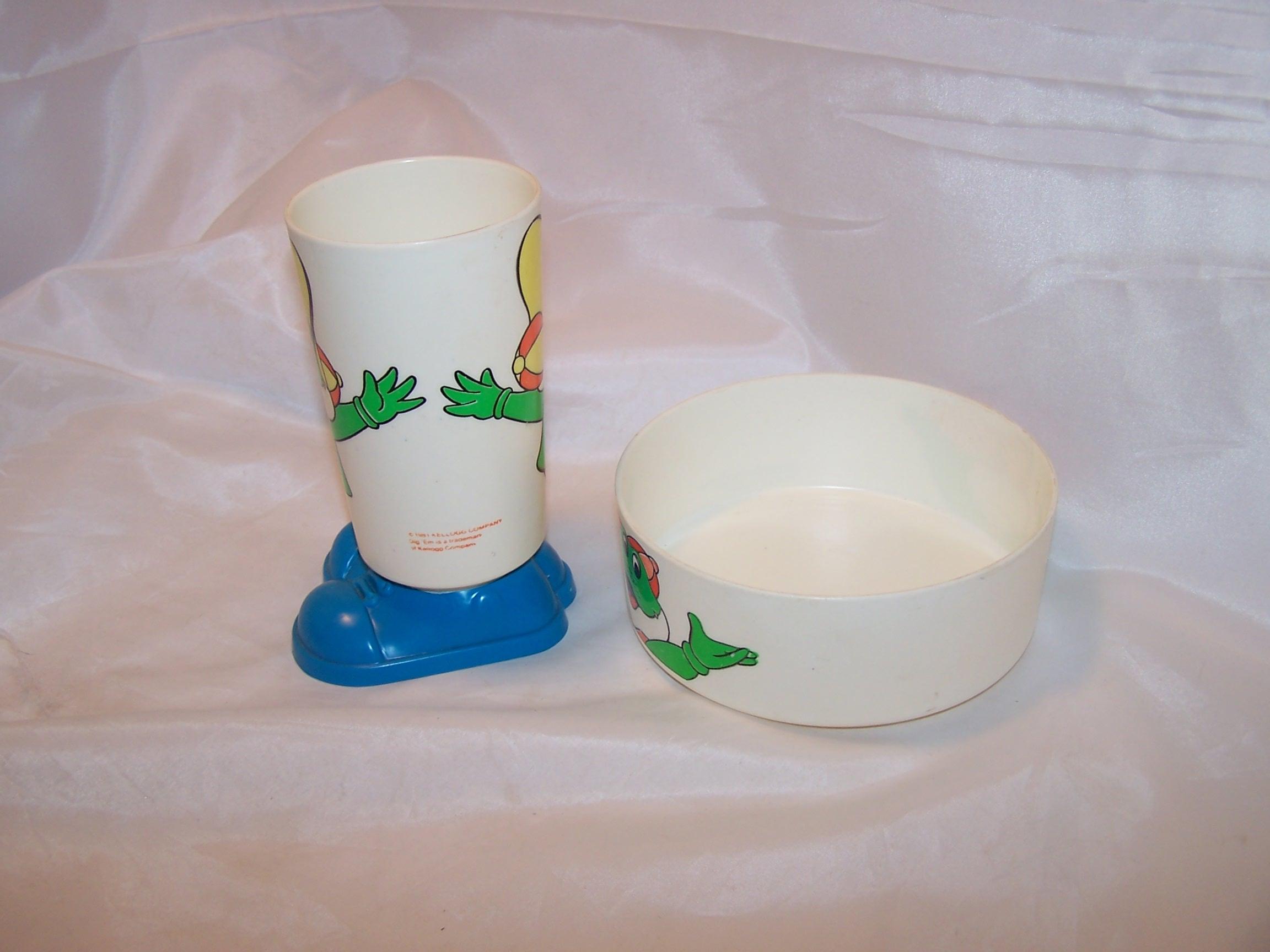 Image 1 of Kellogg Dig Em Cup and Bowl, Sugar Smacks, Plastic, 1980s