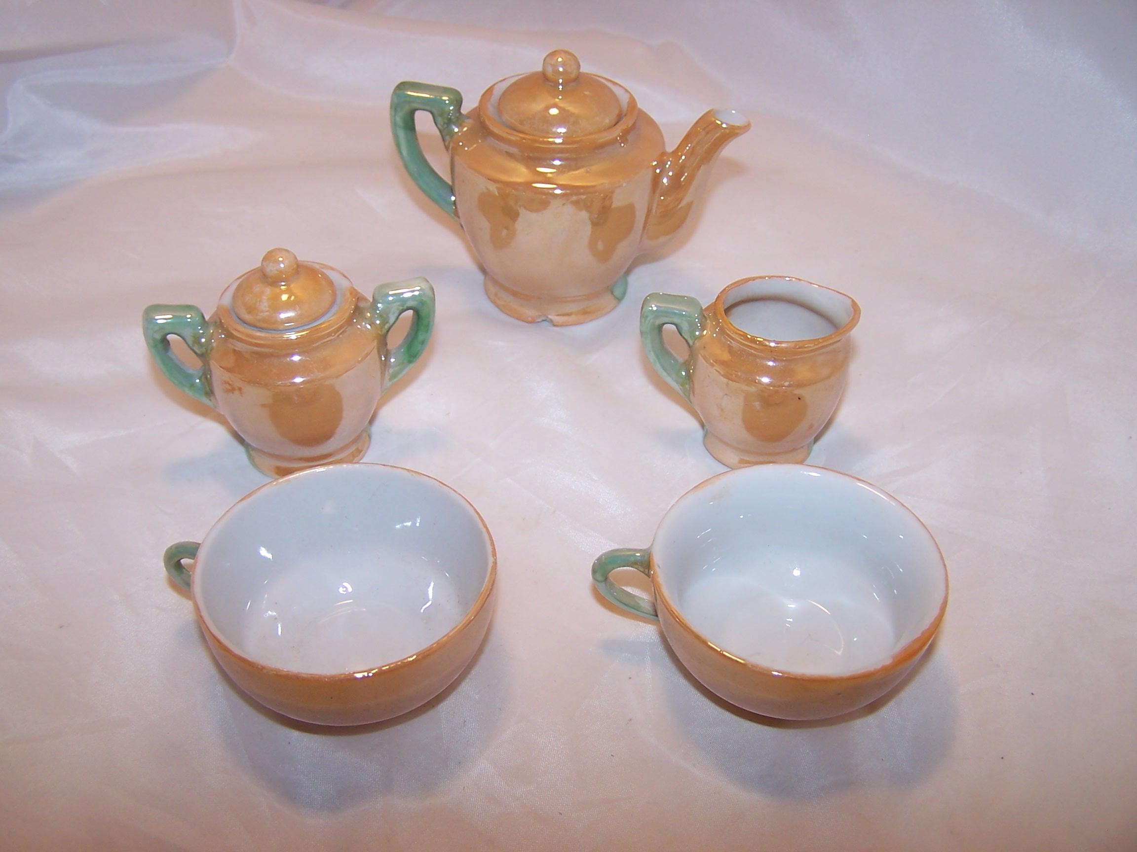 Miniature Tea Set Lusterware Japan Vintage