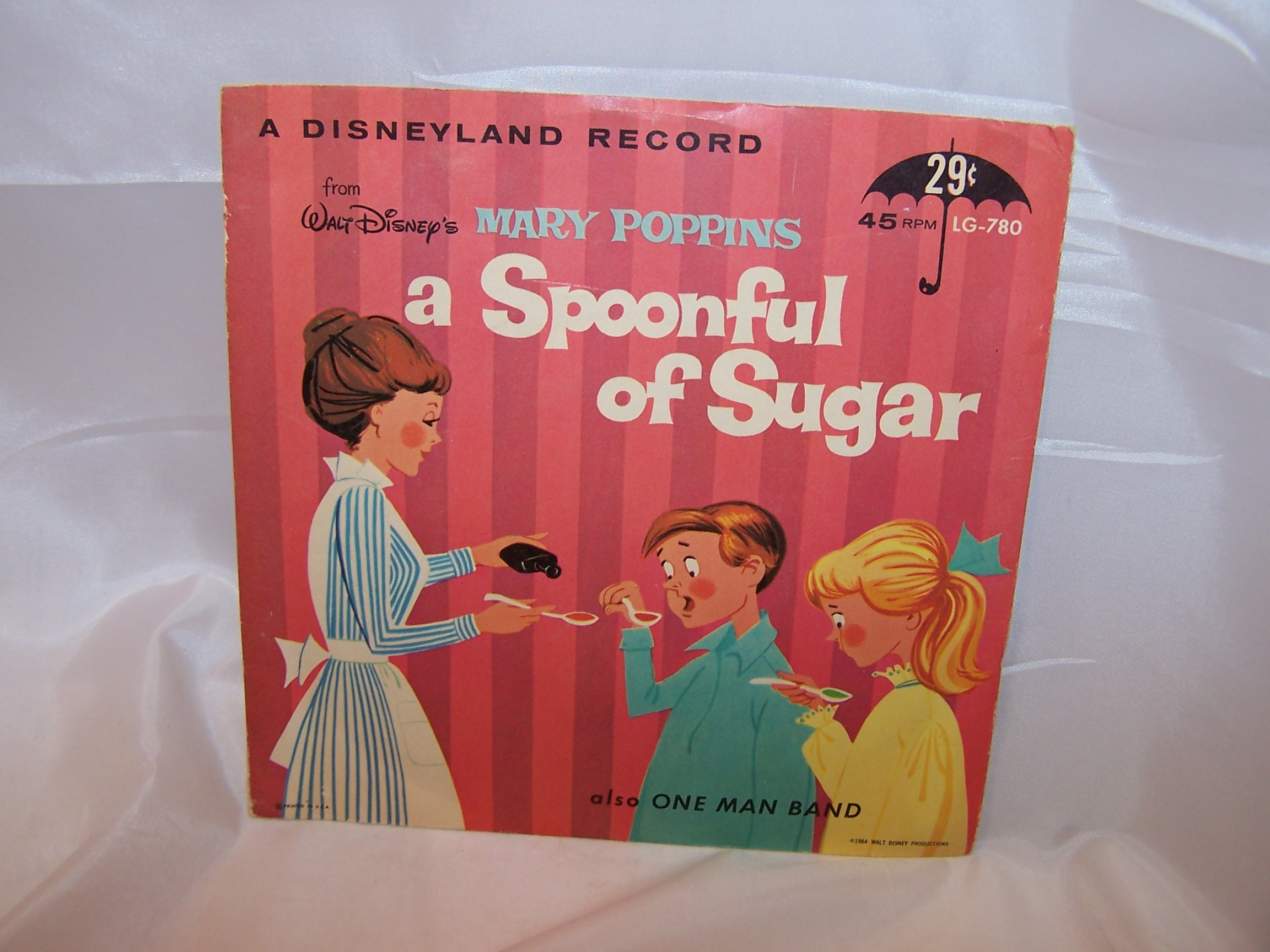 Mary Poppins, A Spoonful of Sugar, 45 RPM Record, 1964