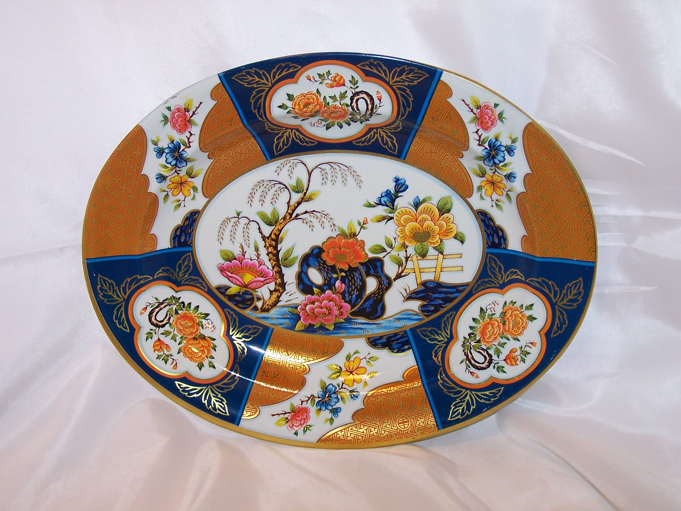 Decorative Wall Hanging Tin Tray, Oriental Style, Daher, England