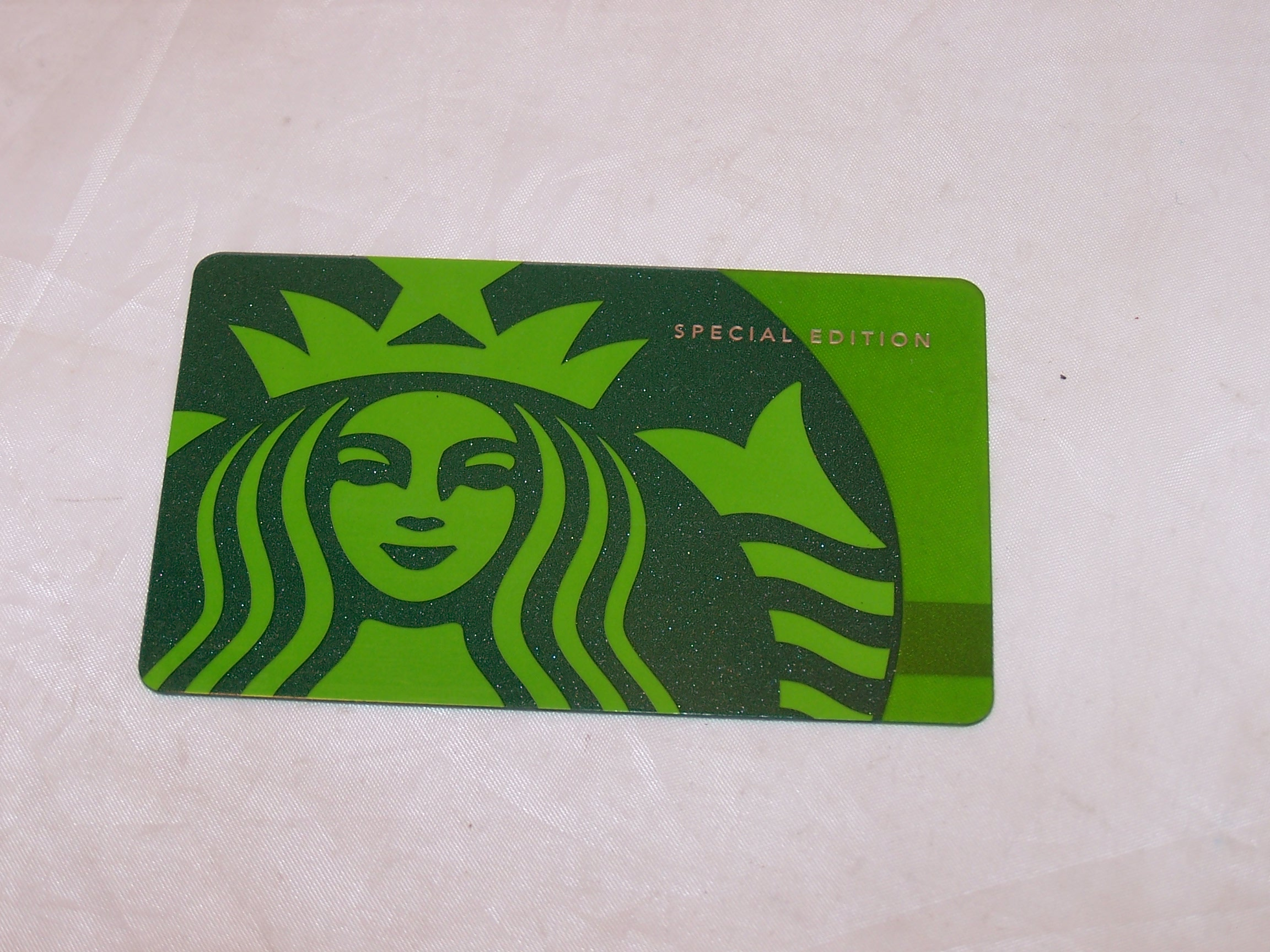 Starbucks Gift Card Special Edition Green, ZERO Balance