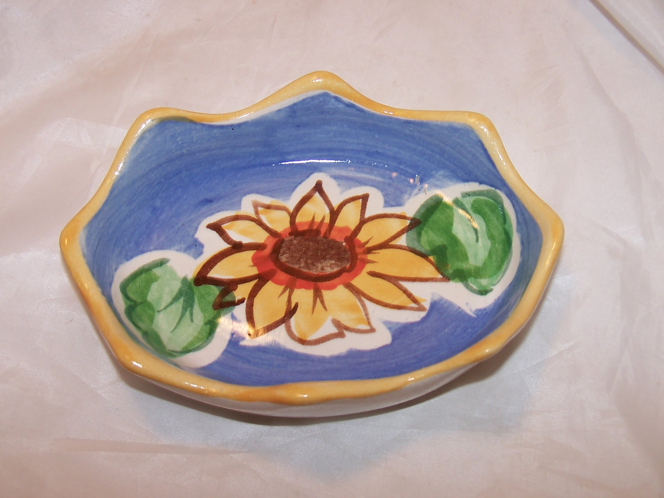 Fioriware Soap Dish Sunflower Handcrafted Ohio