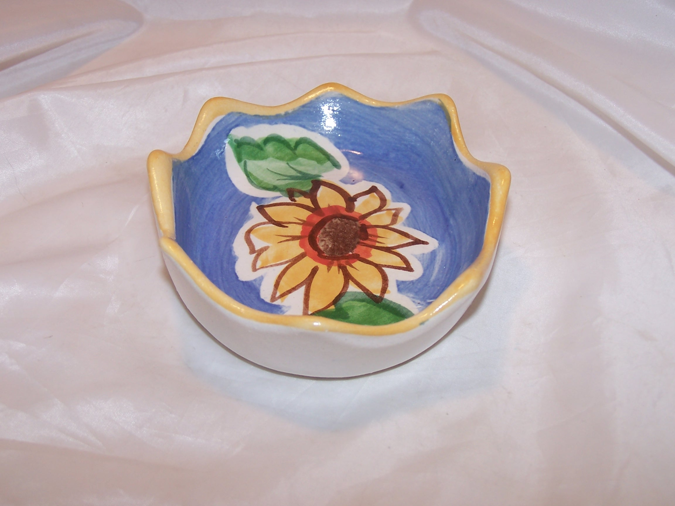 Image 2 of Fioriware Soap Dish Sunflower Handcrafted Ohio