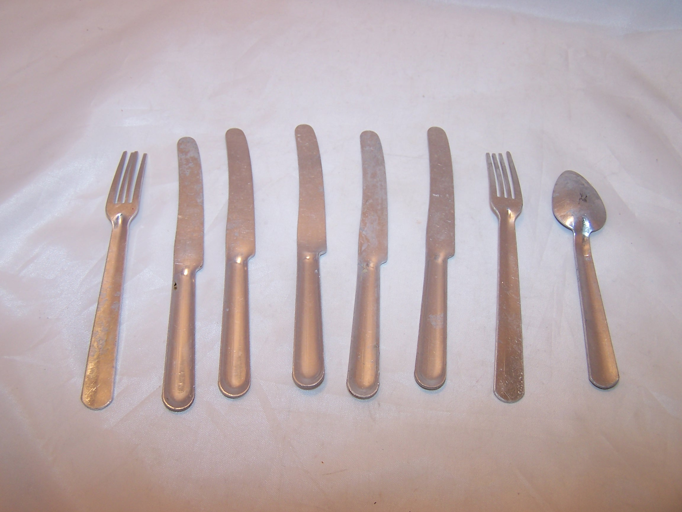 Image 1 of Toy Utensils, Aluminum, Vintage Toy, Group B