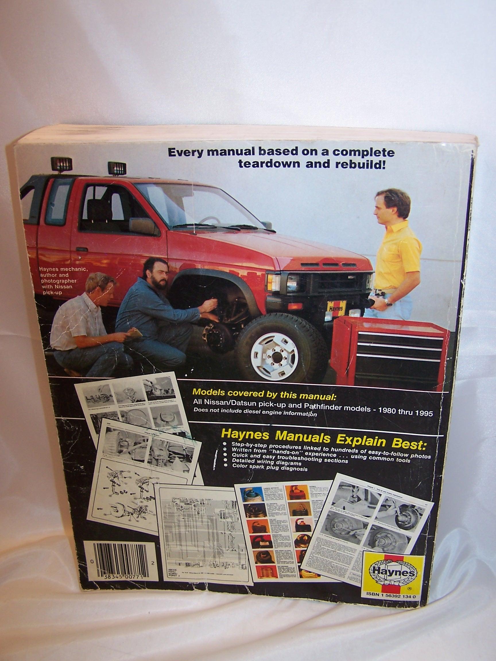 haynes nissan datsun pickups pathfinder 1980 to 95 repair manual. Black Bedroom Furniture Sets. Home Design Ideas