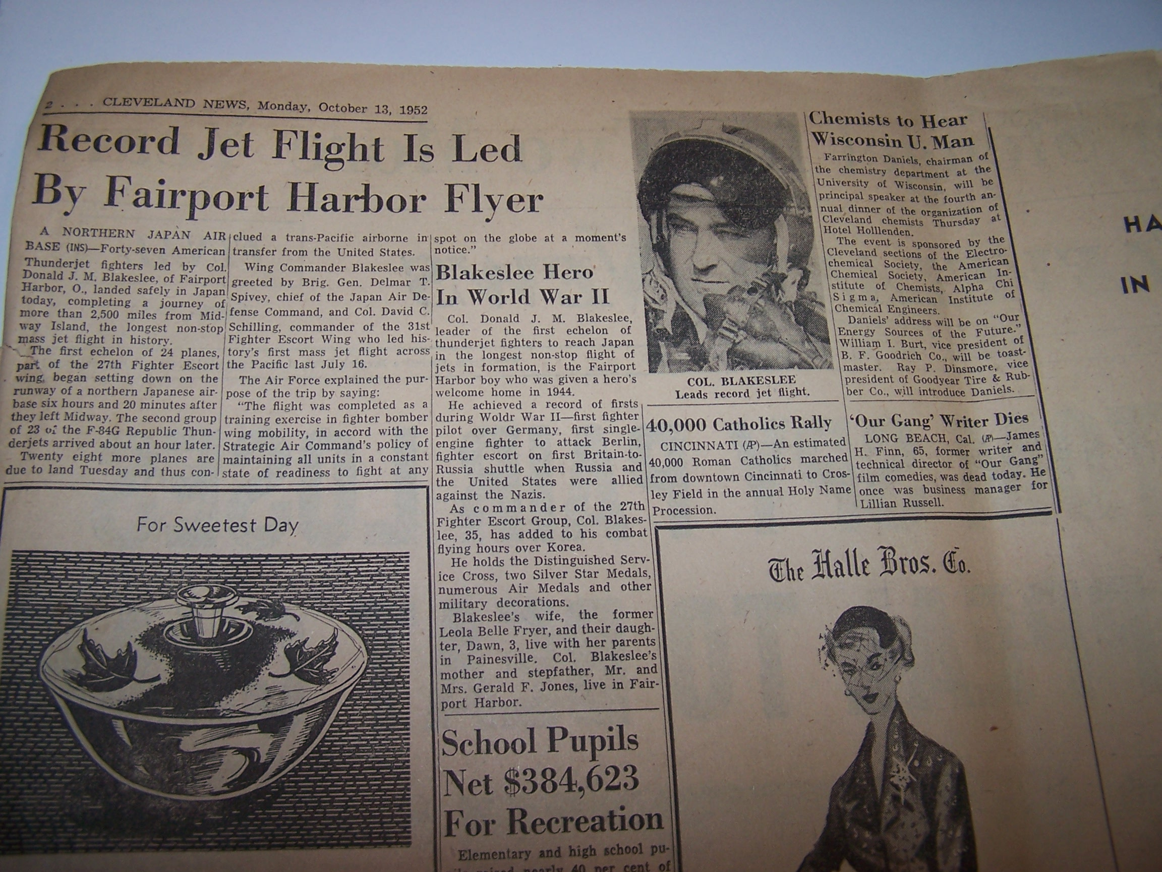 Image 2 of Rosenberg Spies Lose Appeal, 1952, Cleveland News Newspaper