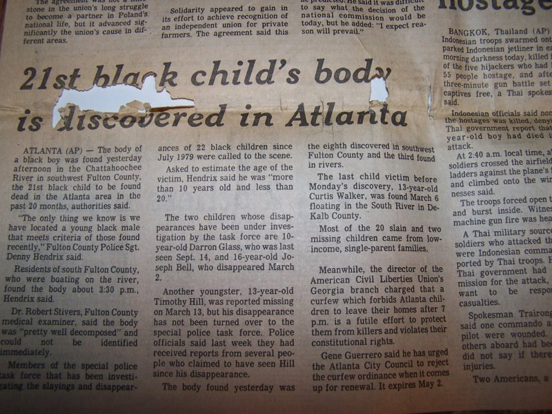 Atlanta Child Murders Coverage