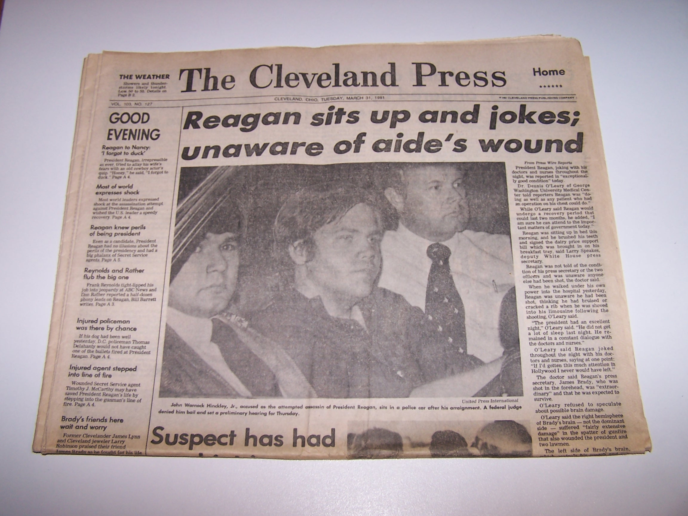 Nixon Resigns, Ford Takes Oath, 1974 Cleveland Plain Dealer