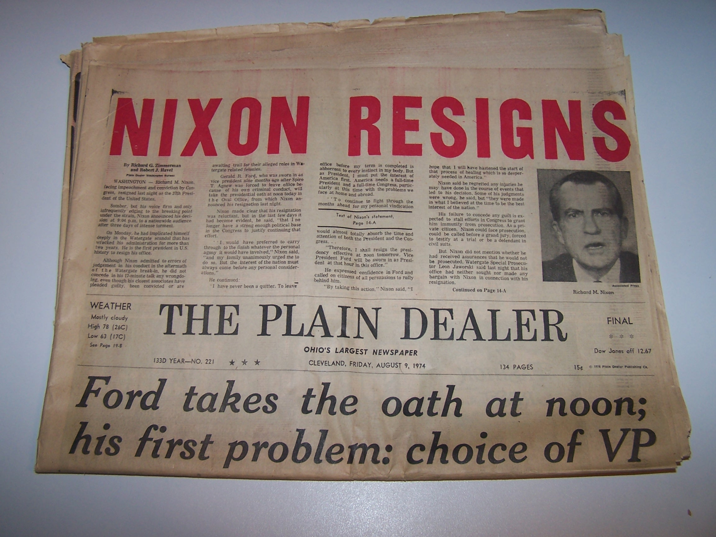 richard nixon resignation speach research paper To leave office before my term is completed is abhorrent to every instinct in my body but as president i must put the interests of america first america needs a full-time president and a full-time congress, particularly at this time with problems we face at home and abroad resignation speech (8 august 1974) i have never.
