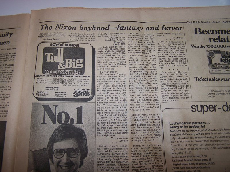 Image 6 of Nixon Resigns, Ford Takes Oath, 1974 Cleveland Plain Dealer