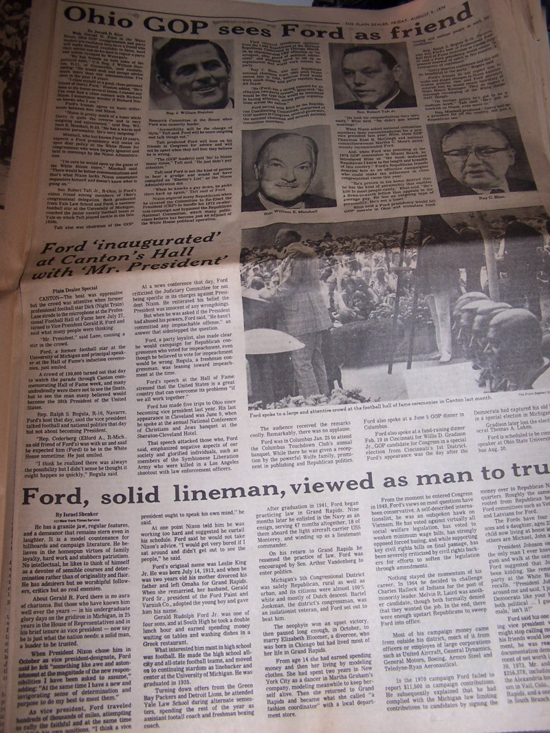 Image 7 of Nixon Resigns, Ford Takes Oath, 1974 Cleveland Plain Dealer